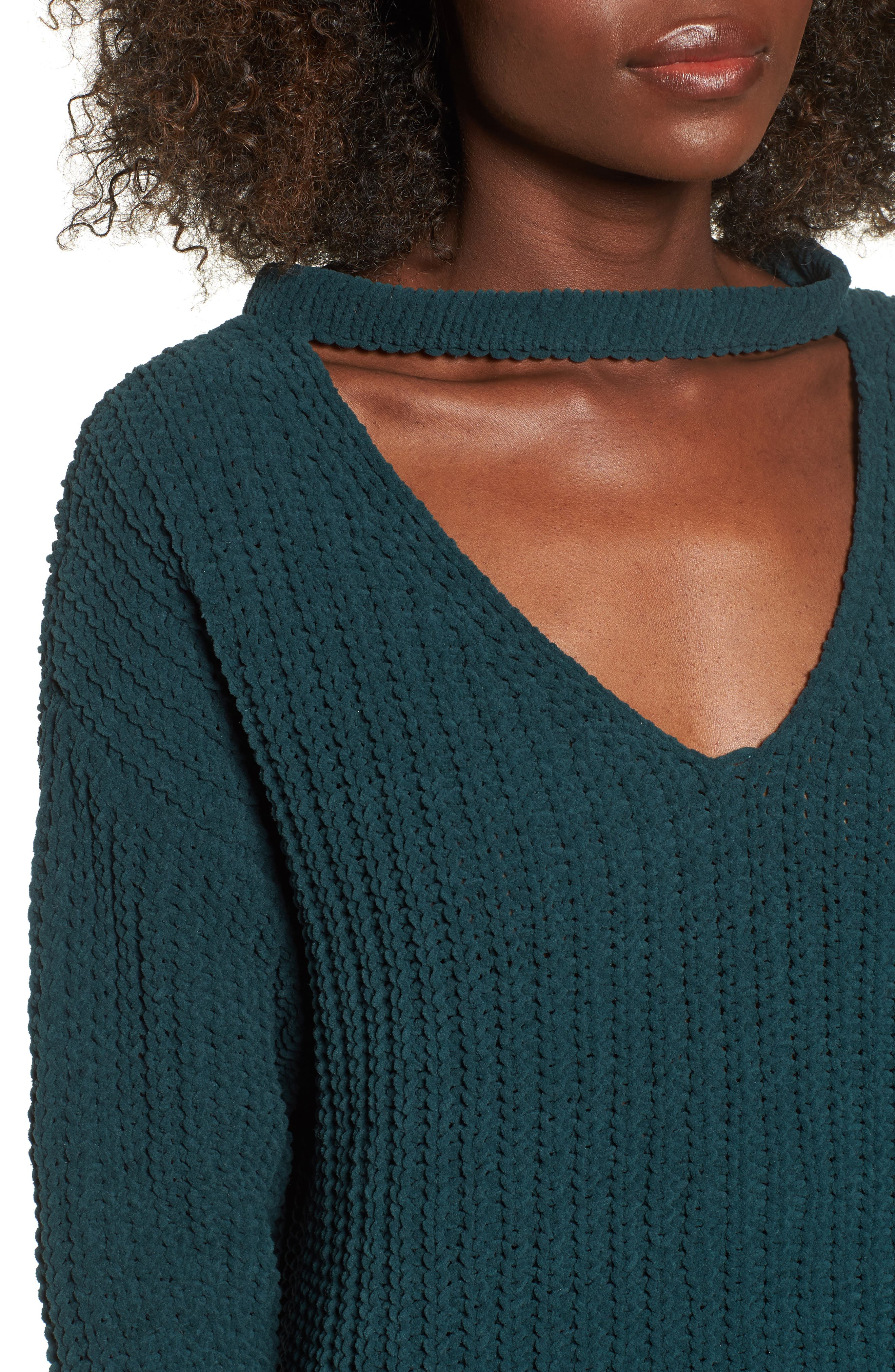 Mary Lous Choker Sweater,                             Alternate thumbnail 4, color,                             300