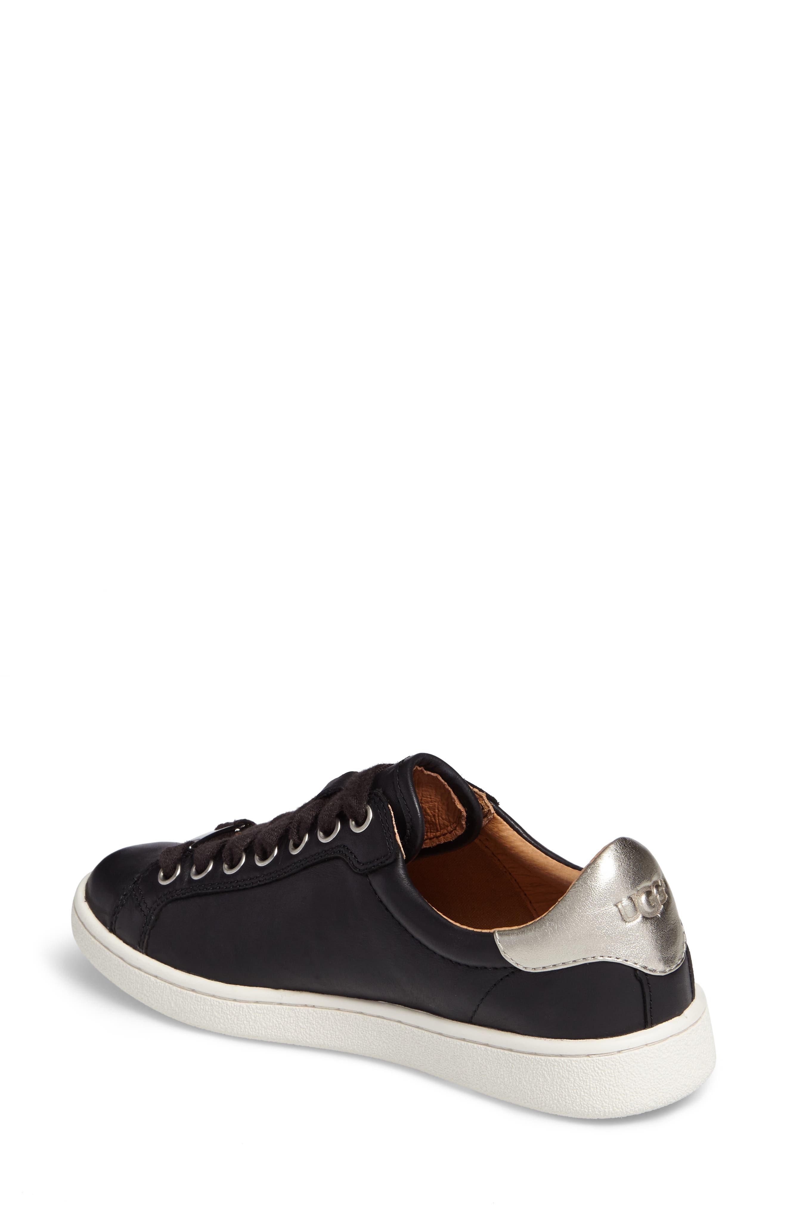 Milo Sneaker,                             Alternate thumbnail 2, color,                             BLACK LEATHER