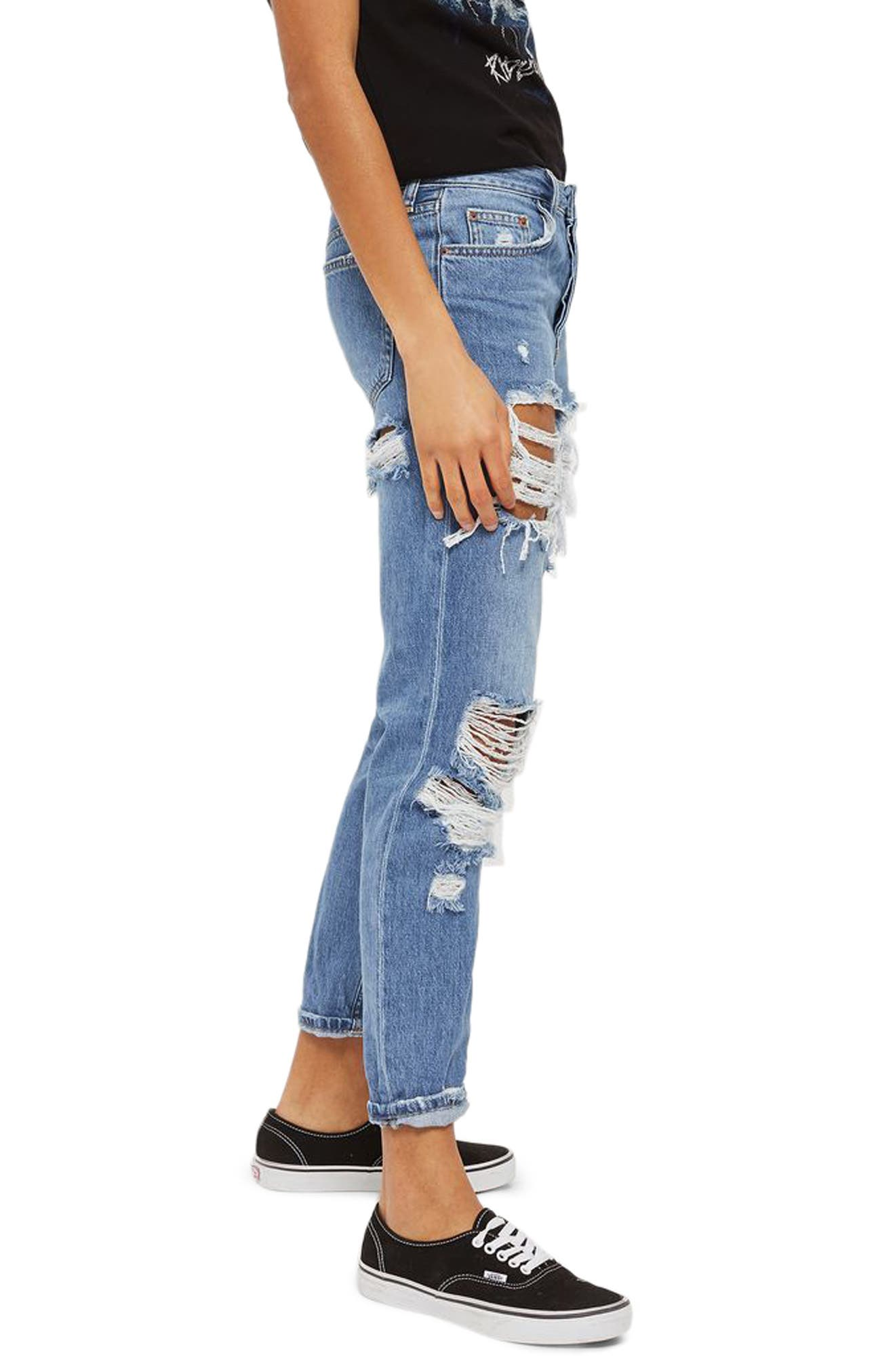 Hayden Cheeky Rip Boyfriend Jeans,                             Alternate thumbnail 3, color,                             400
