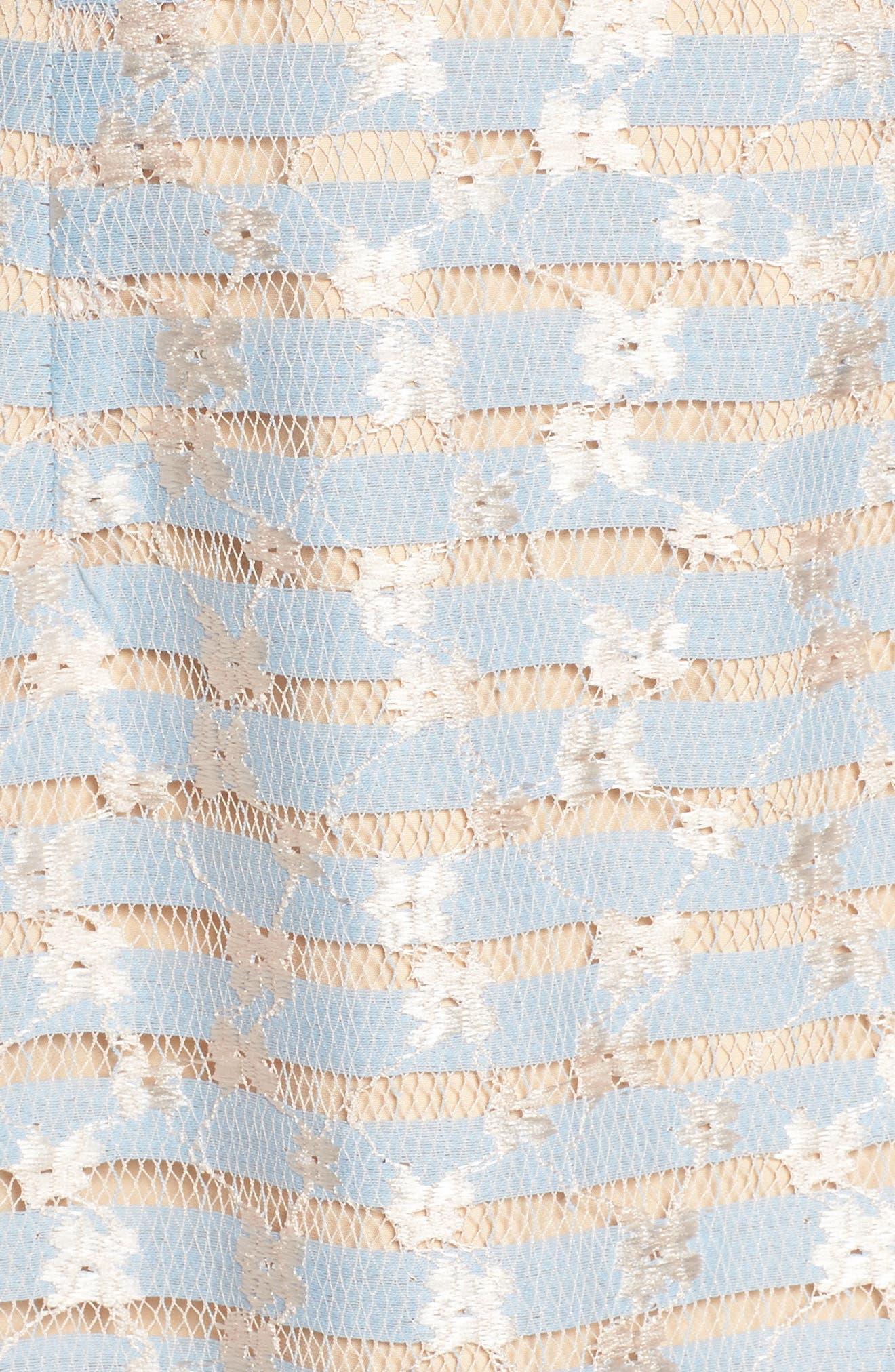 Cordelia Bell Sleeve Minidress,                             Alternate thumbnail 5, color,                             400
