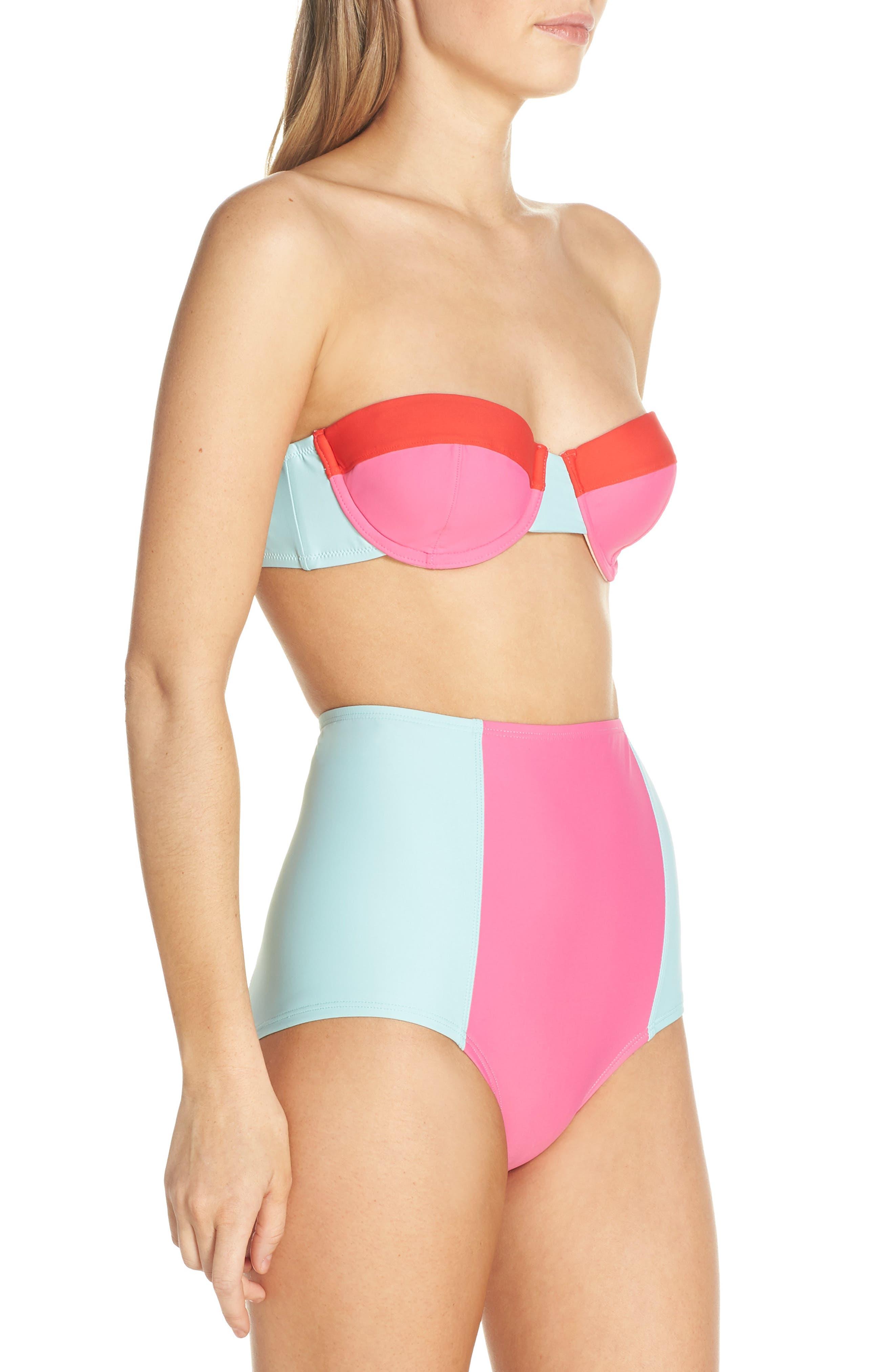 Colorblock Underwire Bikini Top,                             Alternate thumbnail 10, color,                             MINT CERISE PINK