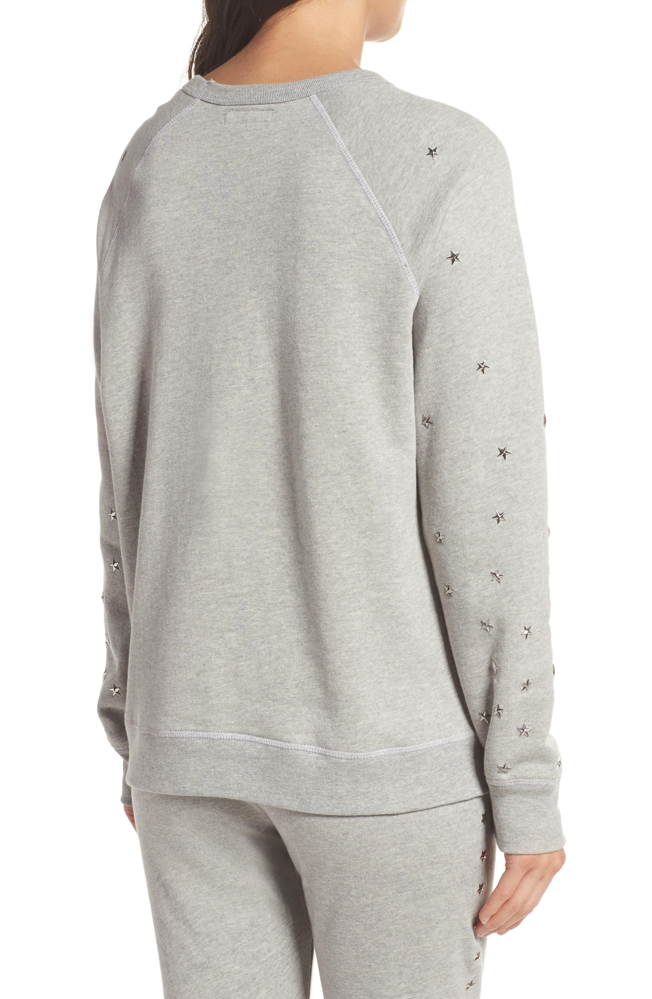 Renzo Vintage Star Stud Sweatshirt,                             Alternate thumbnail 2, color,                             020