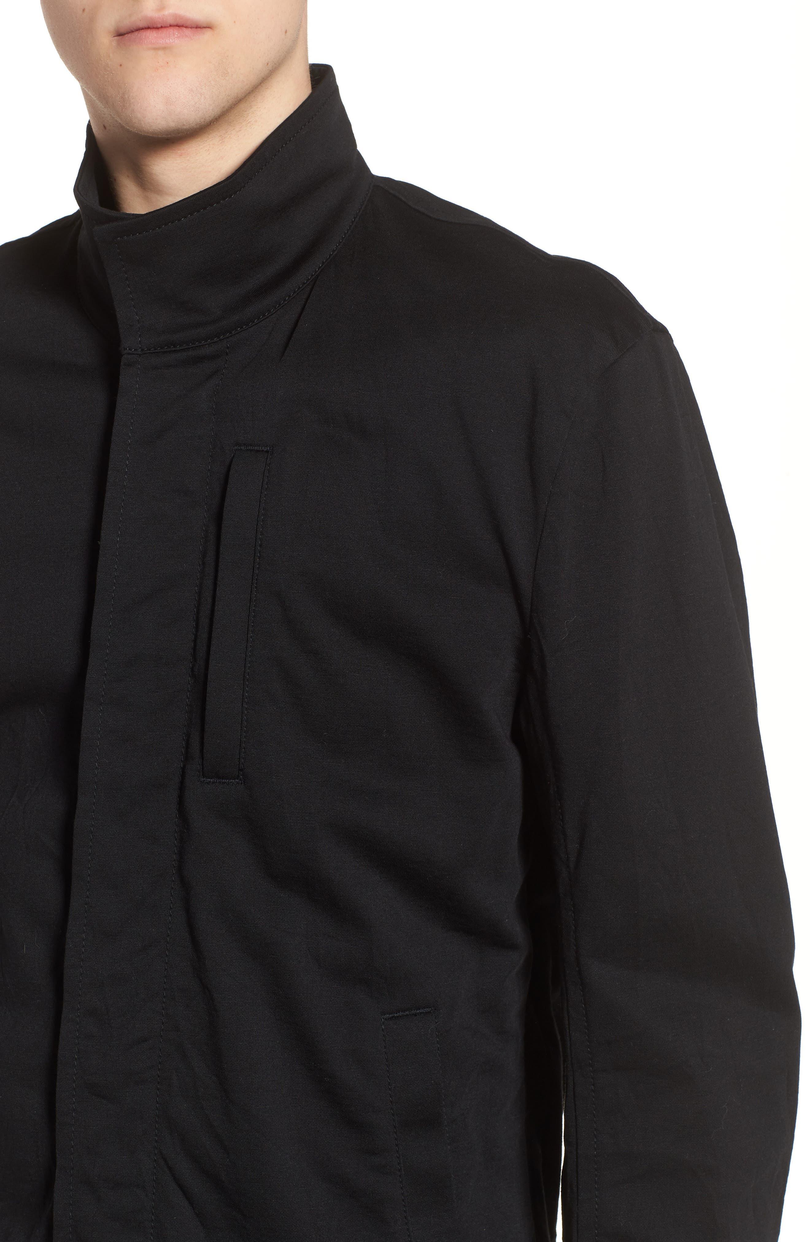 Classic Fit Biker Jacket,                             Alternate thumbnail 4, color,                             001