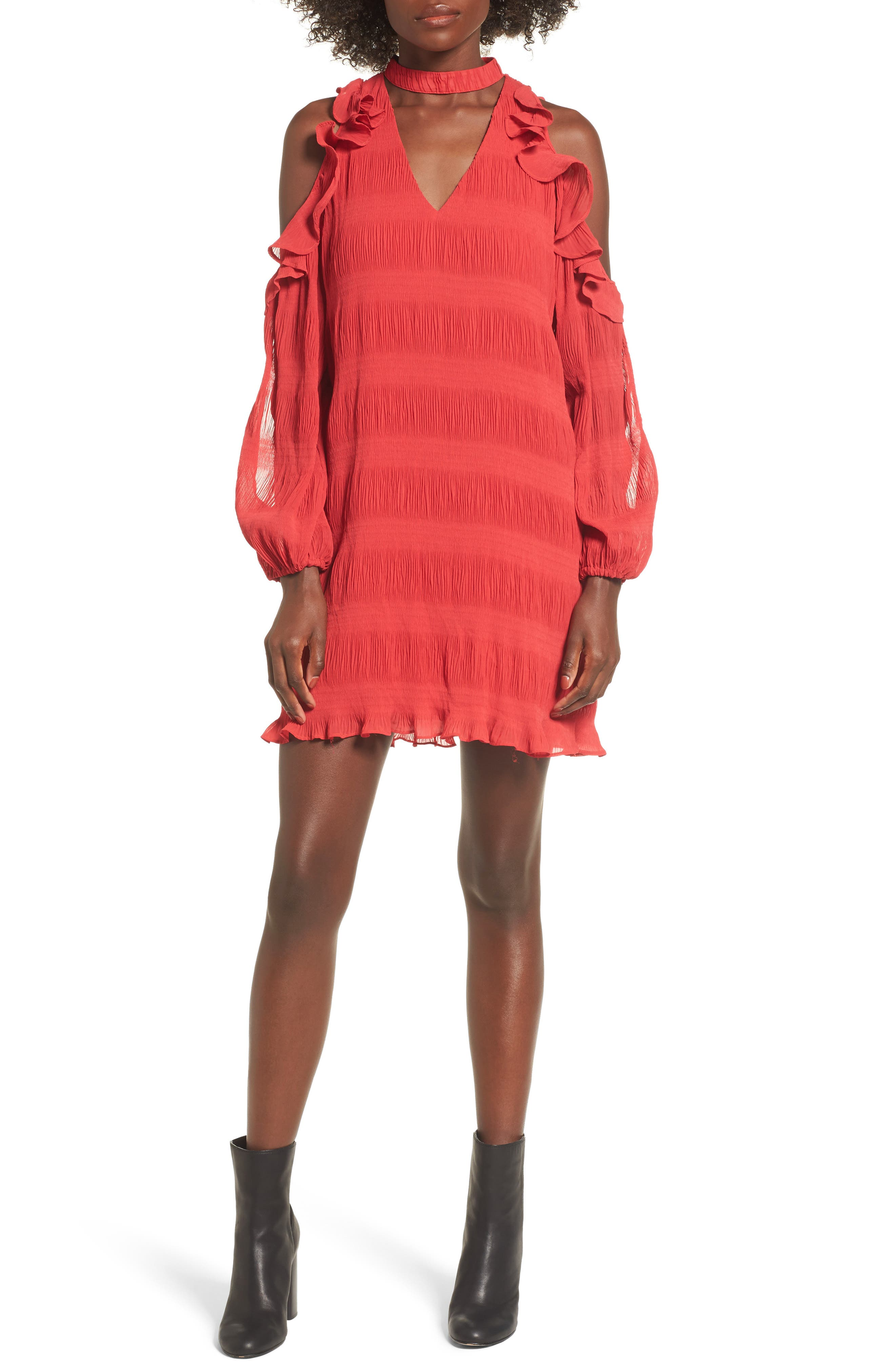 Hallie Cold Shoulder Dress,                         Main,                         color, 601