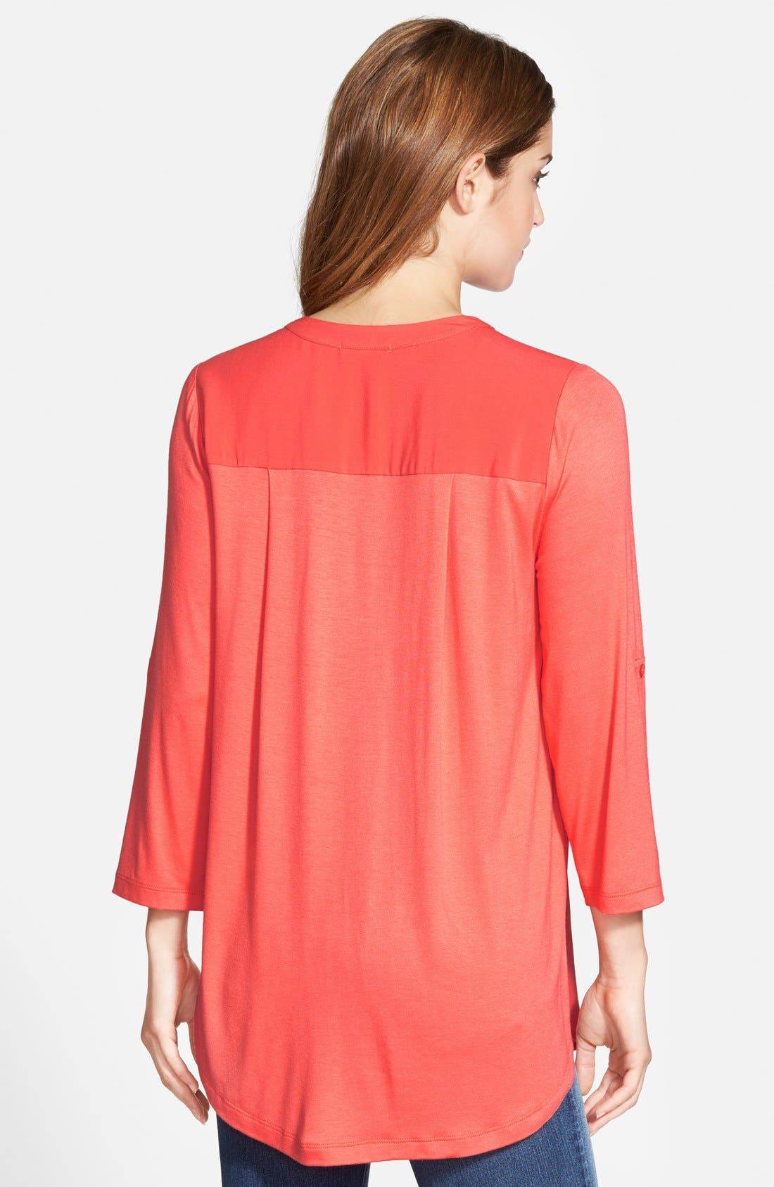 Mixed Media V-Neck Tunic,                             Alternate thumbnail 103, color,
