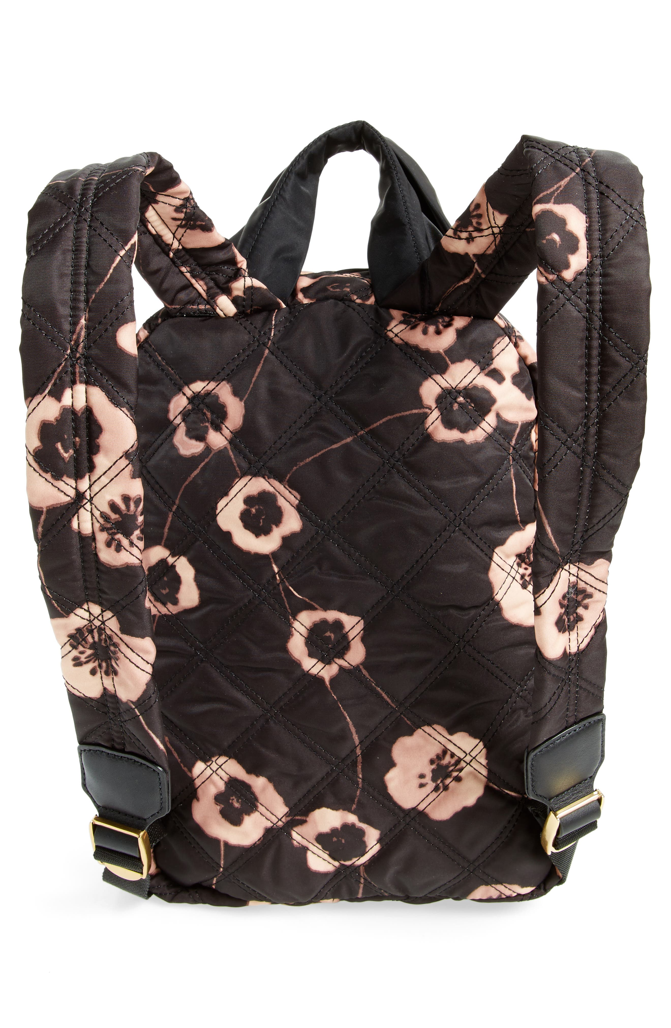 Small Violet Vines Knot Backpack,                             Alternate thumbnail 3, color,                             002