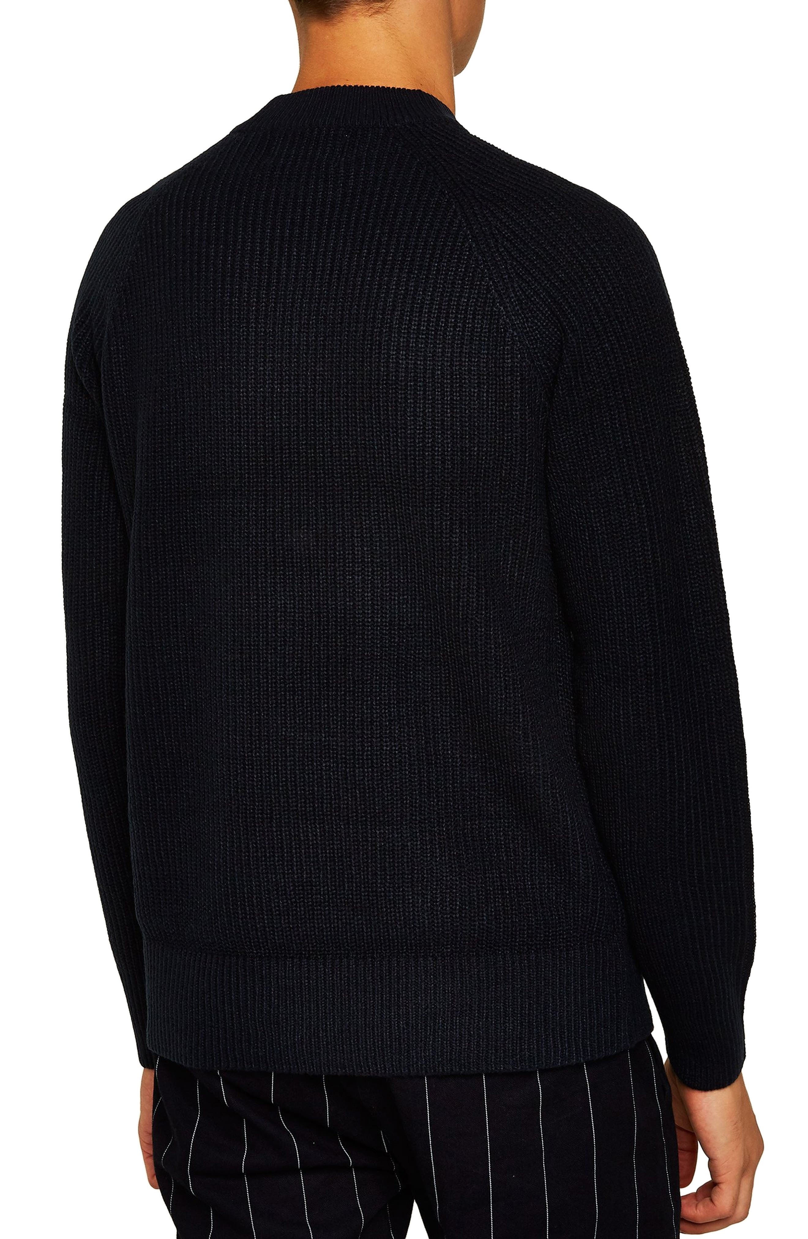 Ribbed Sweater,                             Alternate thumbnail 2, color,                             NAVY BLUE