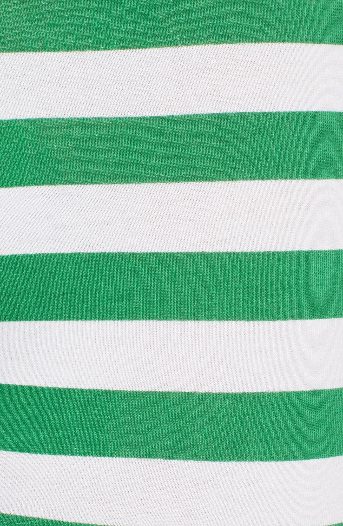 Stripe Trunks,                             Alternate thumbnail 5, color,                             PURE CERULEAN/ GREEN STIPE