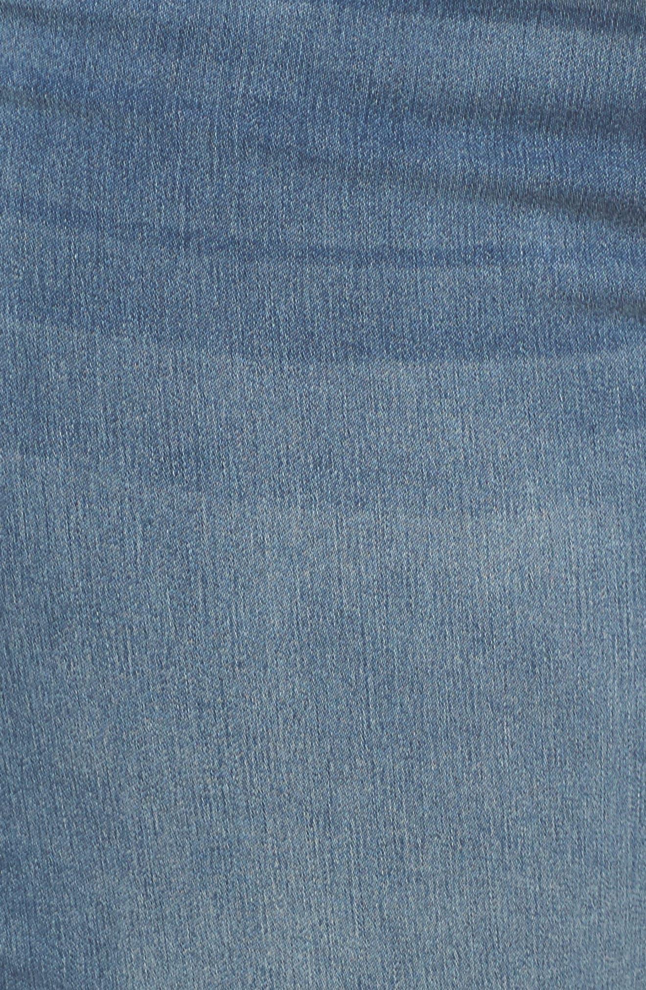 Shadow Godet Ankle Duster Jeans,                             Alternate thumbnail 6, color,                             LEVINE