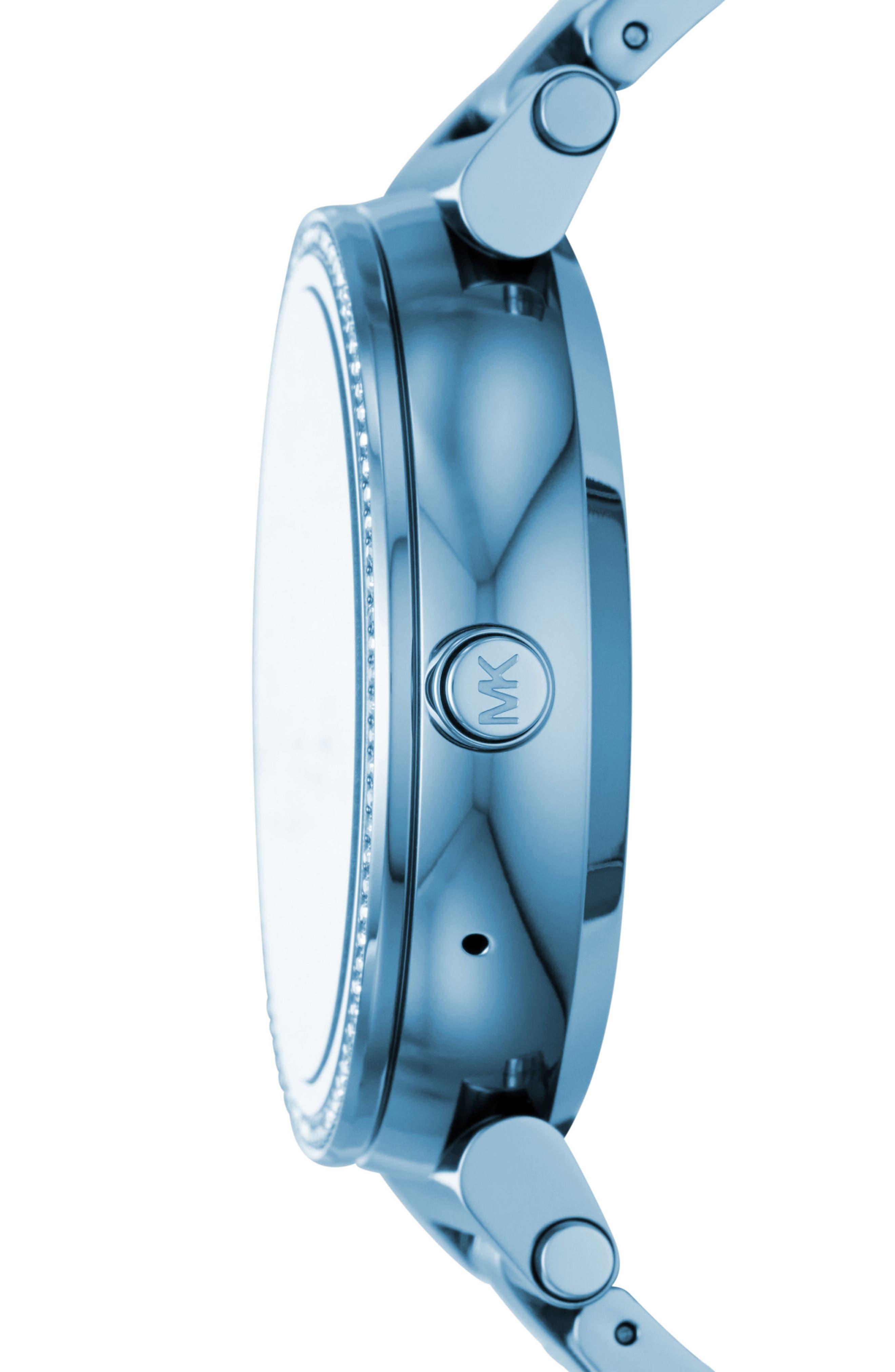 Sofie Touchscreen Bracelet Smart Watch, 42mm,                             Alternate thumbnail 3, color,                             400