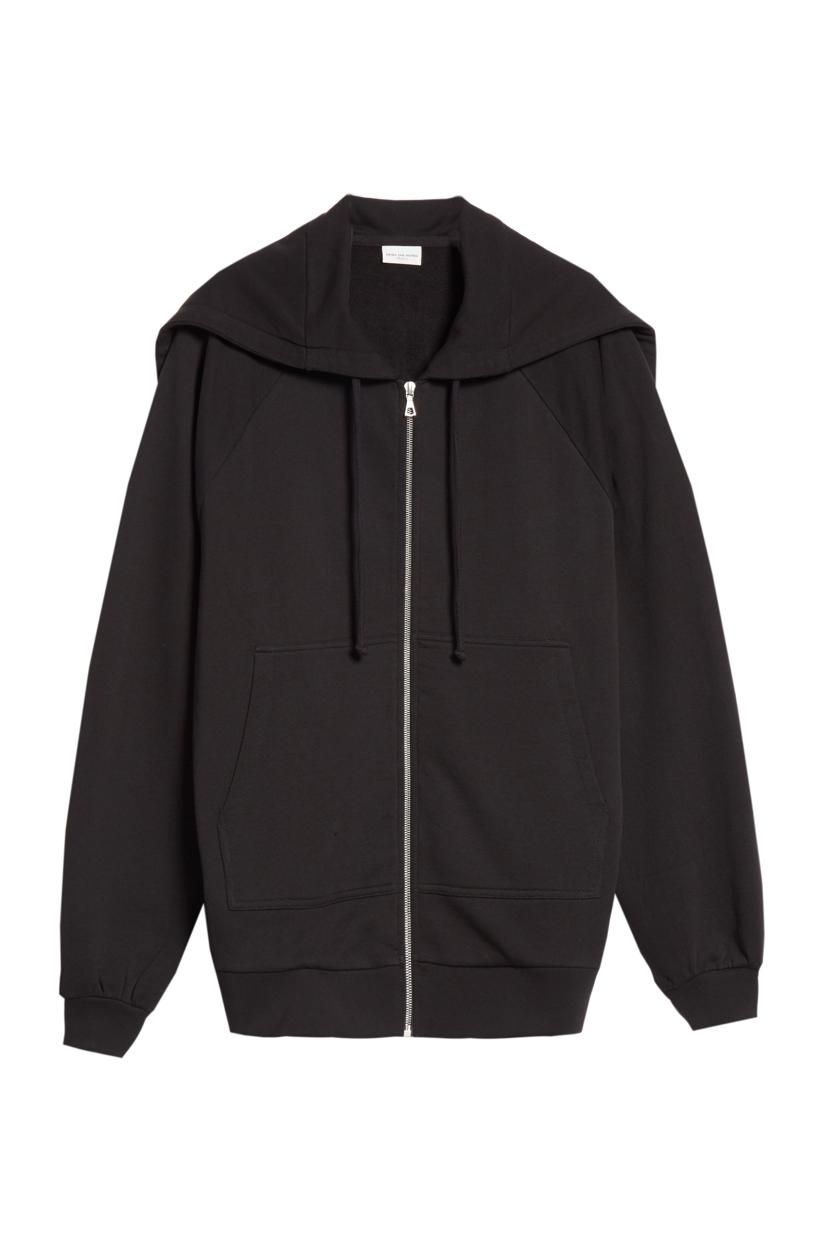 Oversize Hoodie,                             Alternate thumbnail 6, color,                             BLACK