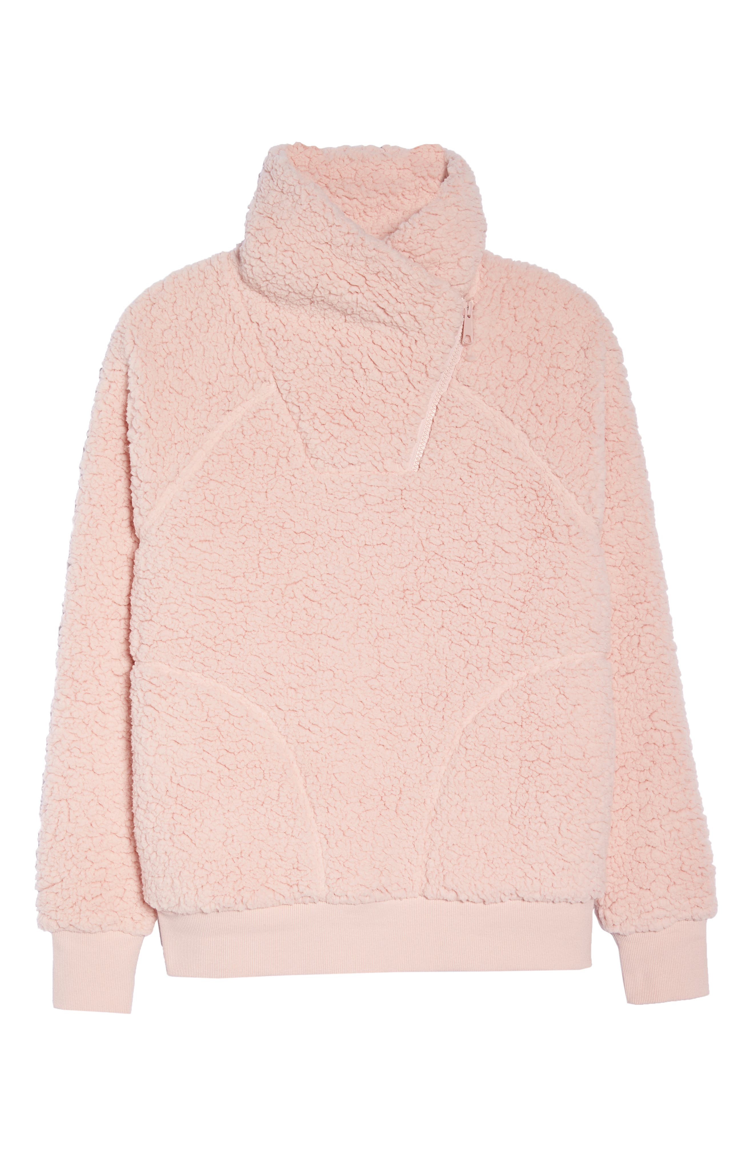 Shear Up Pullover,                             Alternate thumbnail 7, color,                             PINK PEACHSKIN