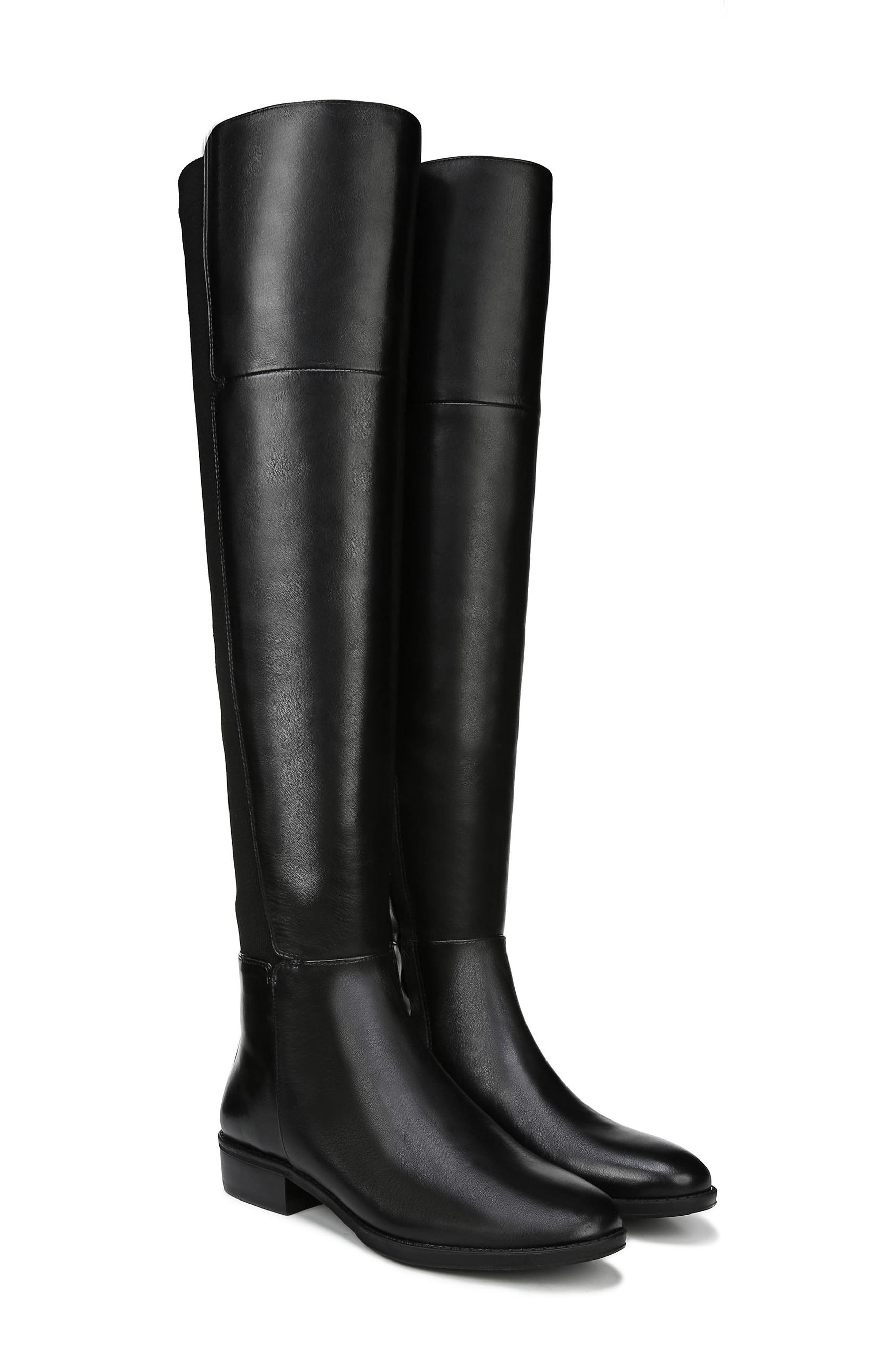 Pam Over the Knee Boot,                             Alternate thumbnail 9, color,                             BLACK LEATHER
