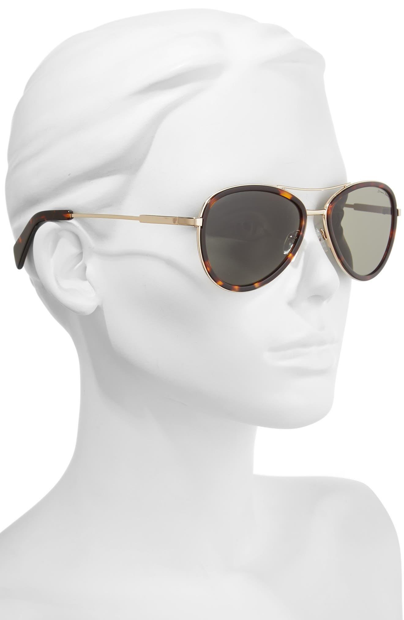 58mm Aviator Sunglasses,                             Alternate thumbnail 2, color,                             GOLD