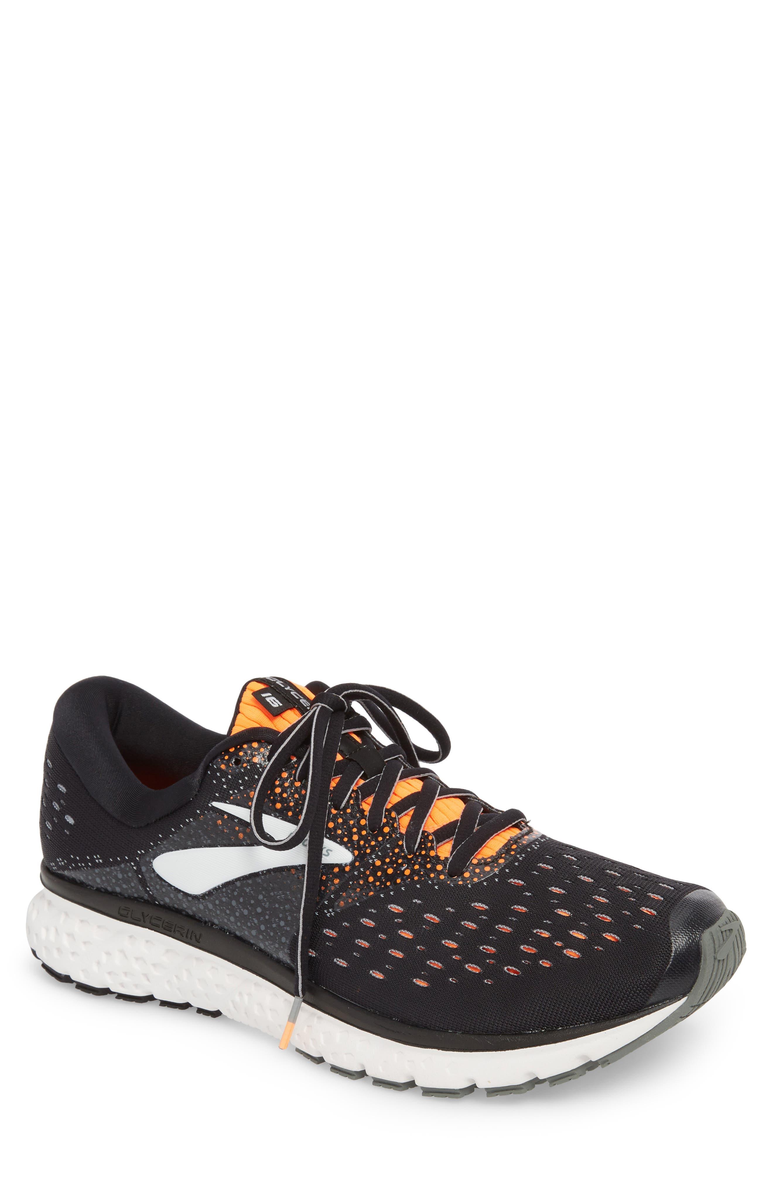 Glycerin 16 Running Shoe,                         Main,                         color, BLACK/ ORANGE/ GREY