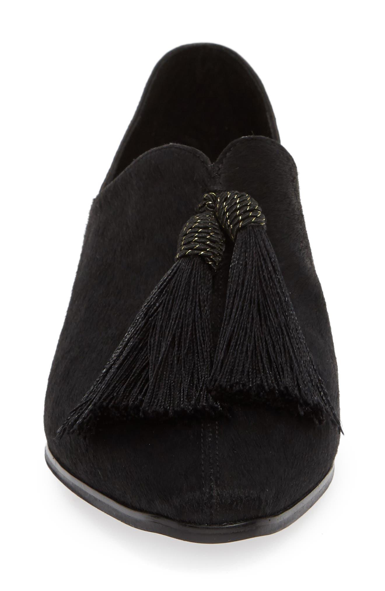 SBICCA,                             Primwood Tassel Loafer,                             Alternate thumbnail 4, color,                             BLACK LEATHER