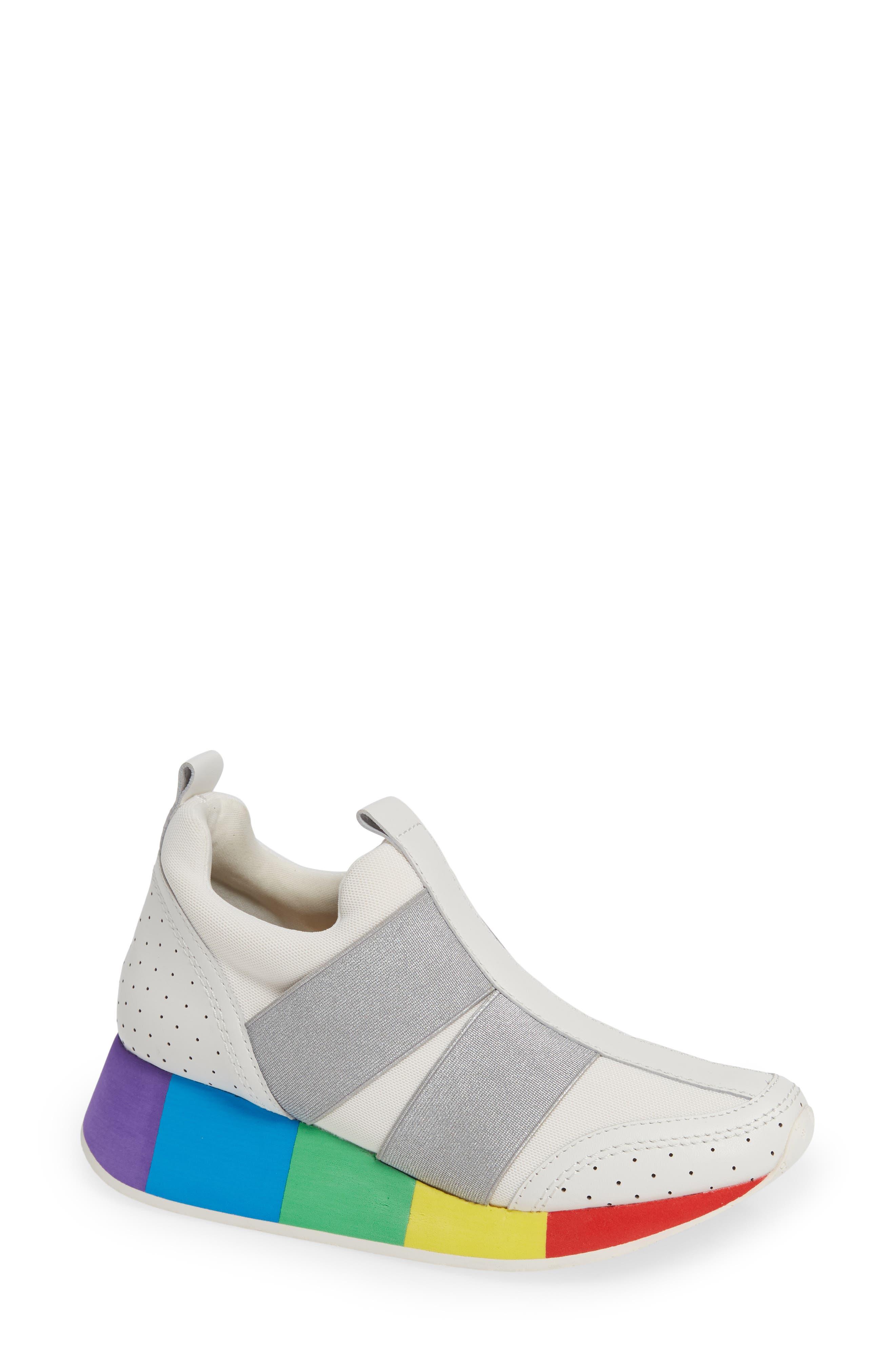 Prix Rainbow Platform Sneaker in White