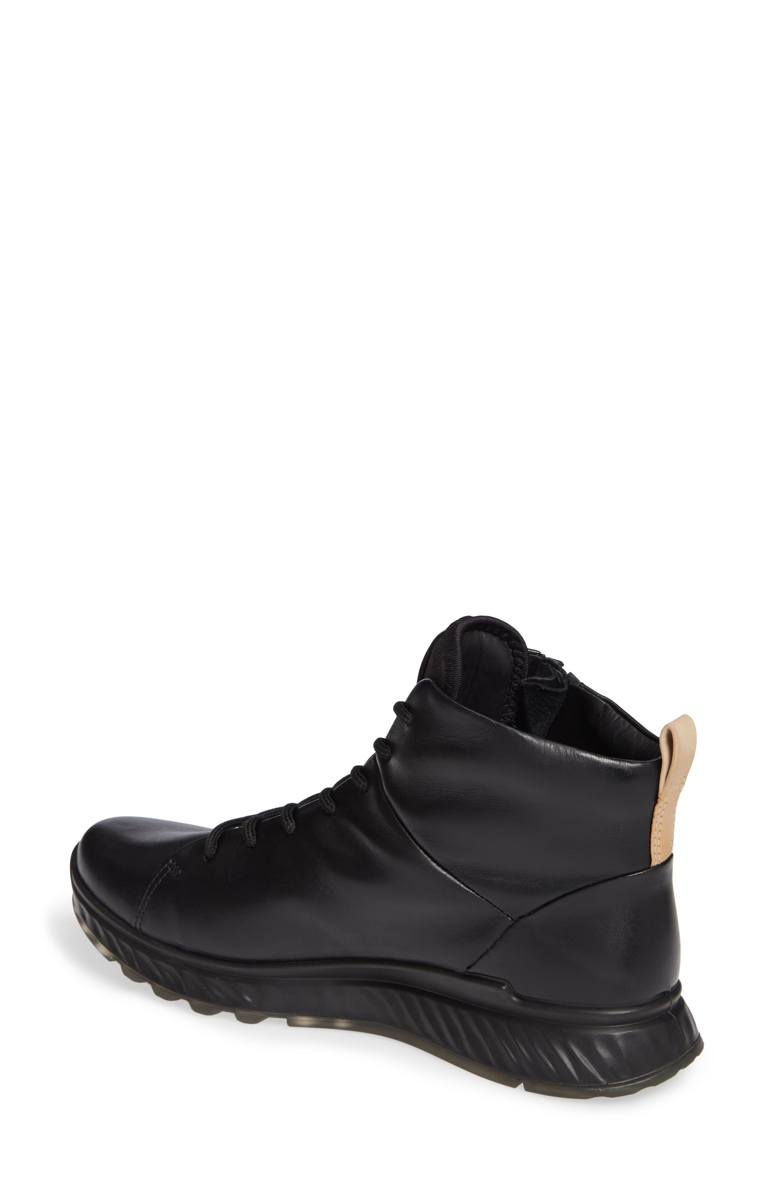 ST1 High Top Sneaker,                             Alternate thumbnail 2, color,                             BLACK LEATHER