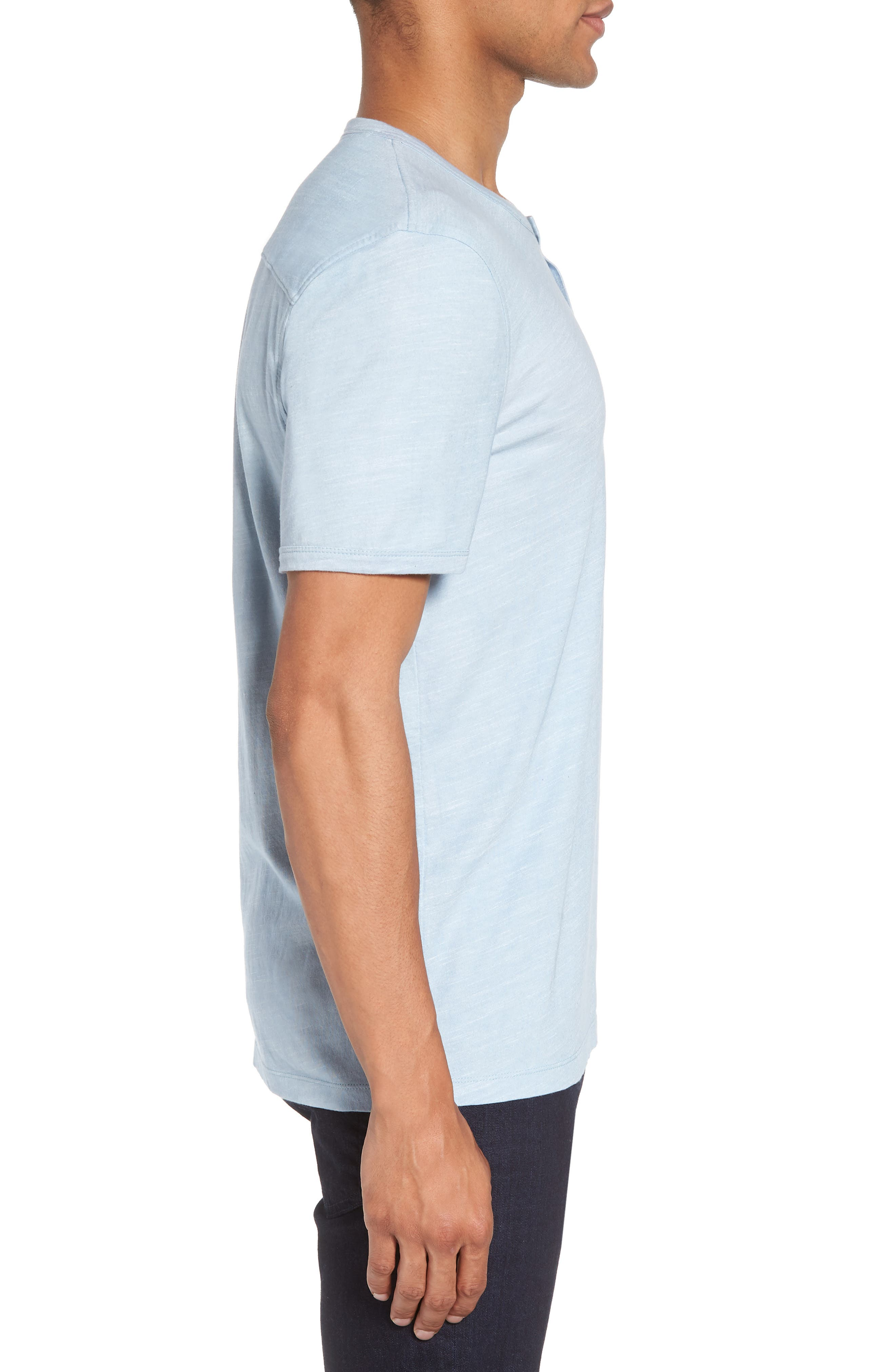 Space Dyed One-Button Henley T-Shirt,                             Alternate thumbnail 13, color,