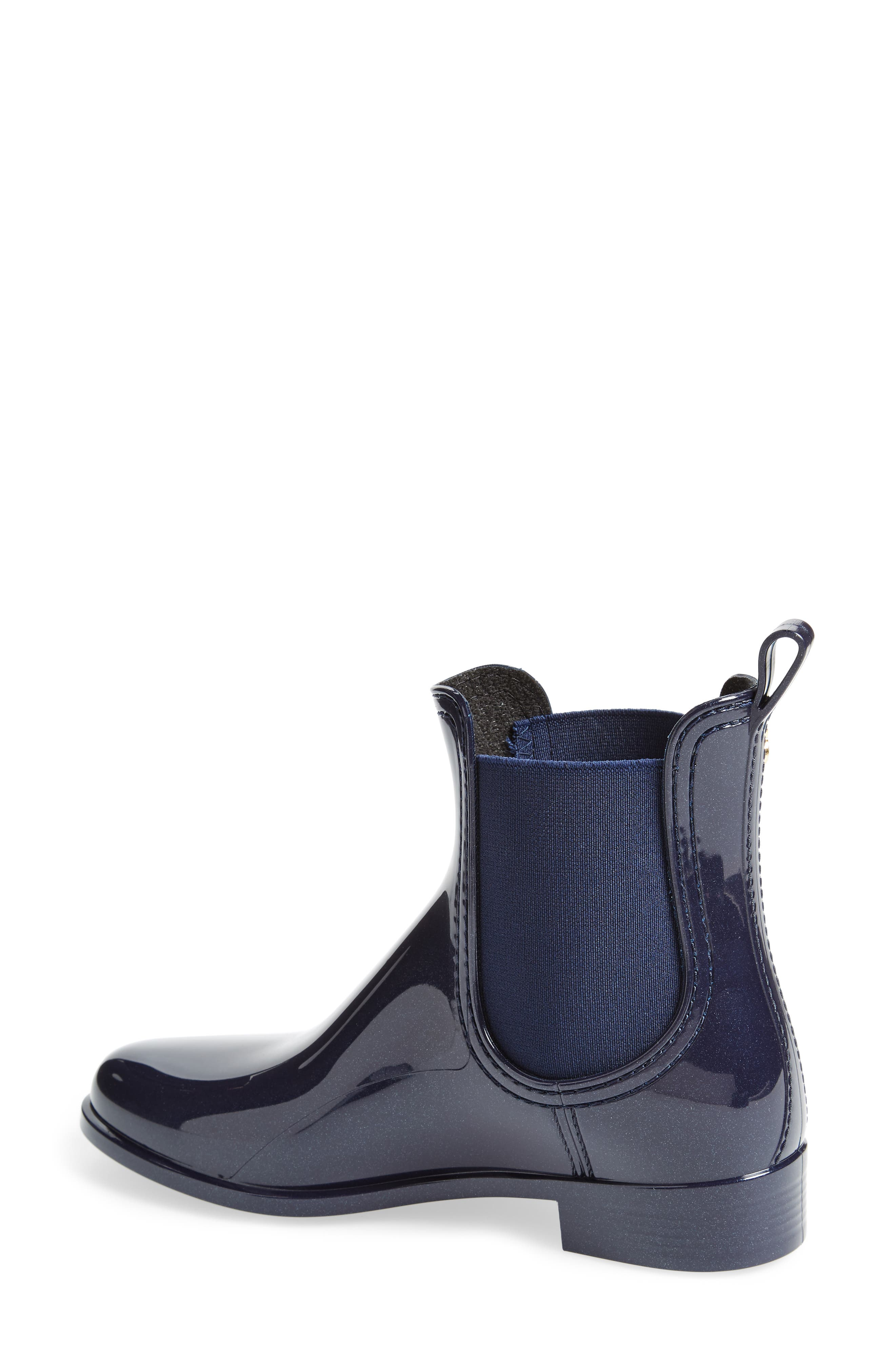 Comfy Waterproof Chelsea Boot,                             Alternate thumbnail 2, color,                             METAL BLUE MATTE