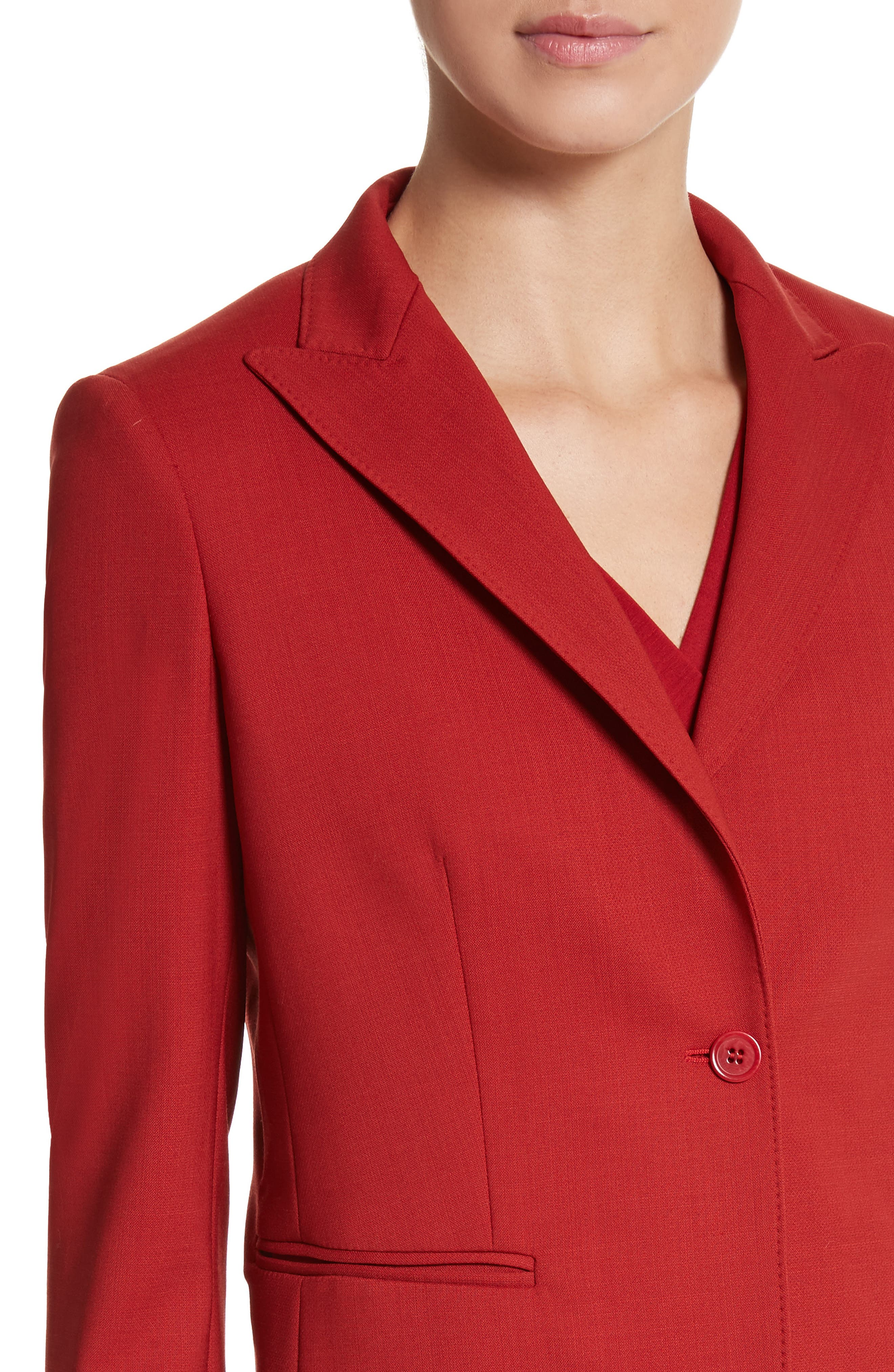 Umile Stretch Wool Jacket,                             Alternate thumbnail 4, color,                             614
