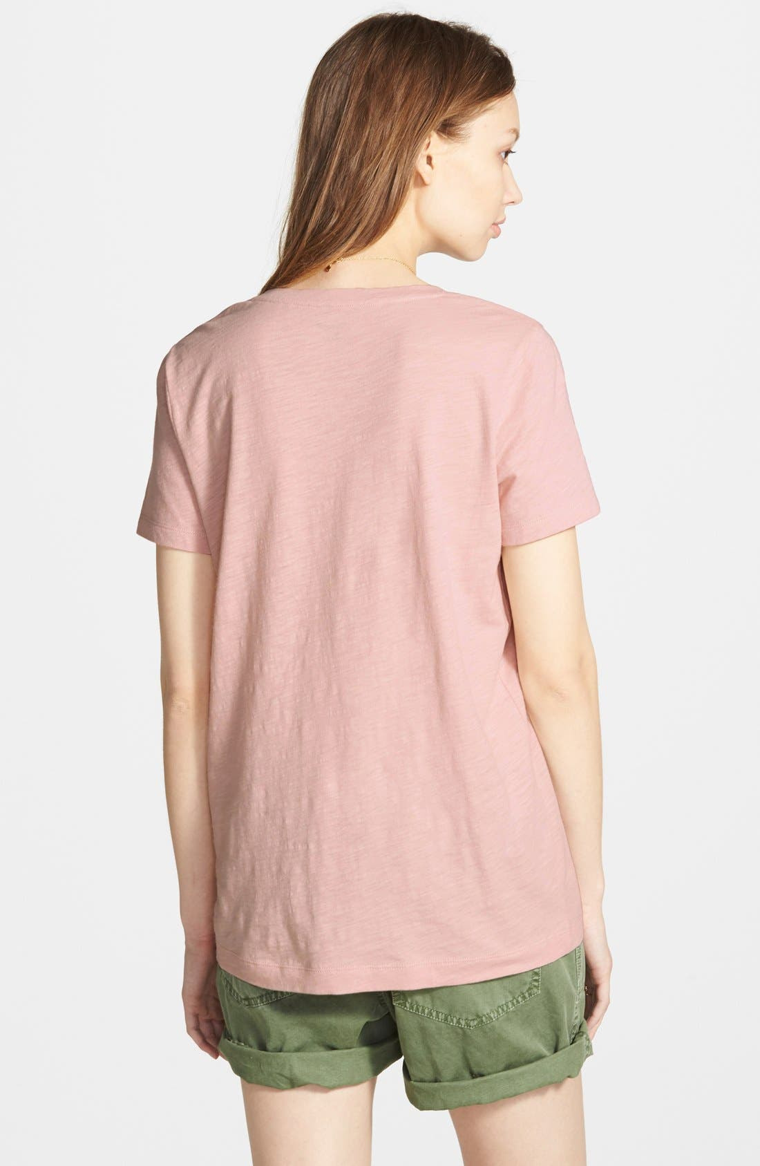 Whisper Cotton V-Neck Pocket Tee,                             Alternate thumbnail 247, color,