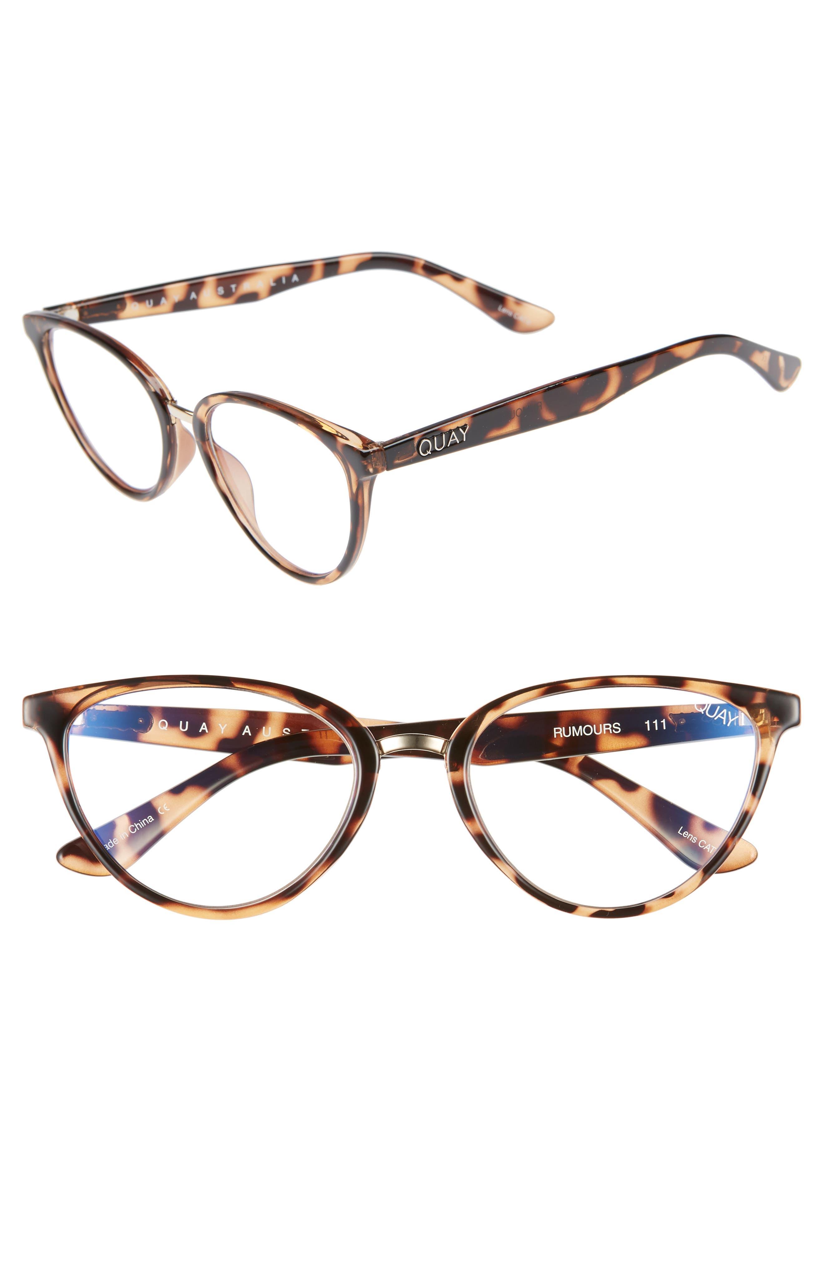 Quay Australia Rumors 57Mm Sunglasses - Tortoise Shell