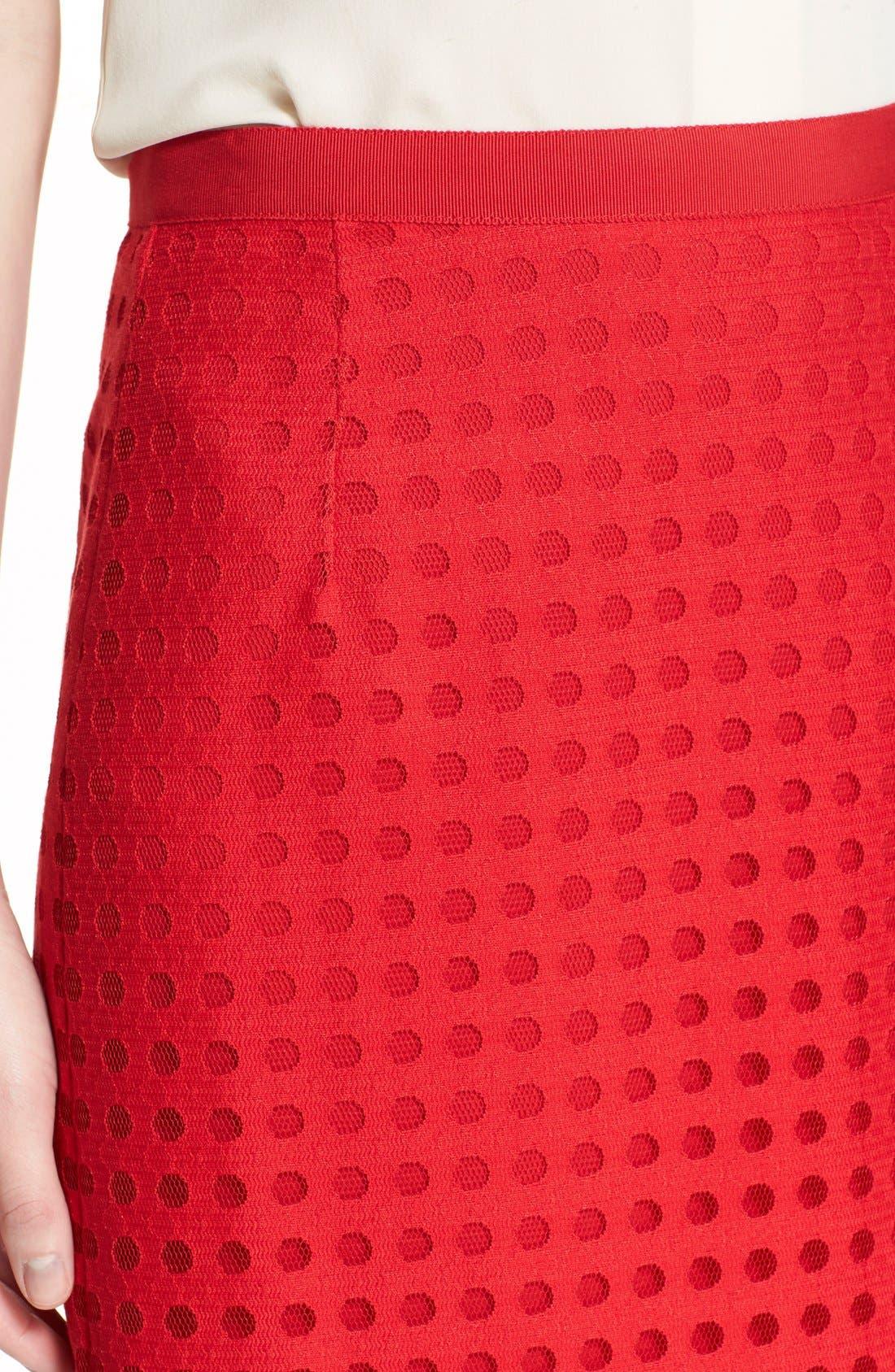 Mesh Pencil Skirt,                             Alternate thumbnail 2, color,                             600