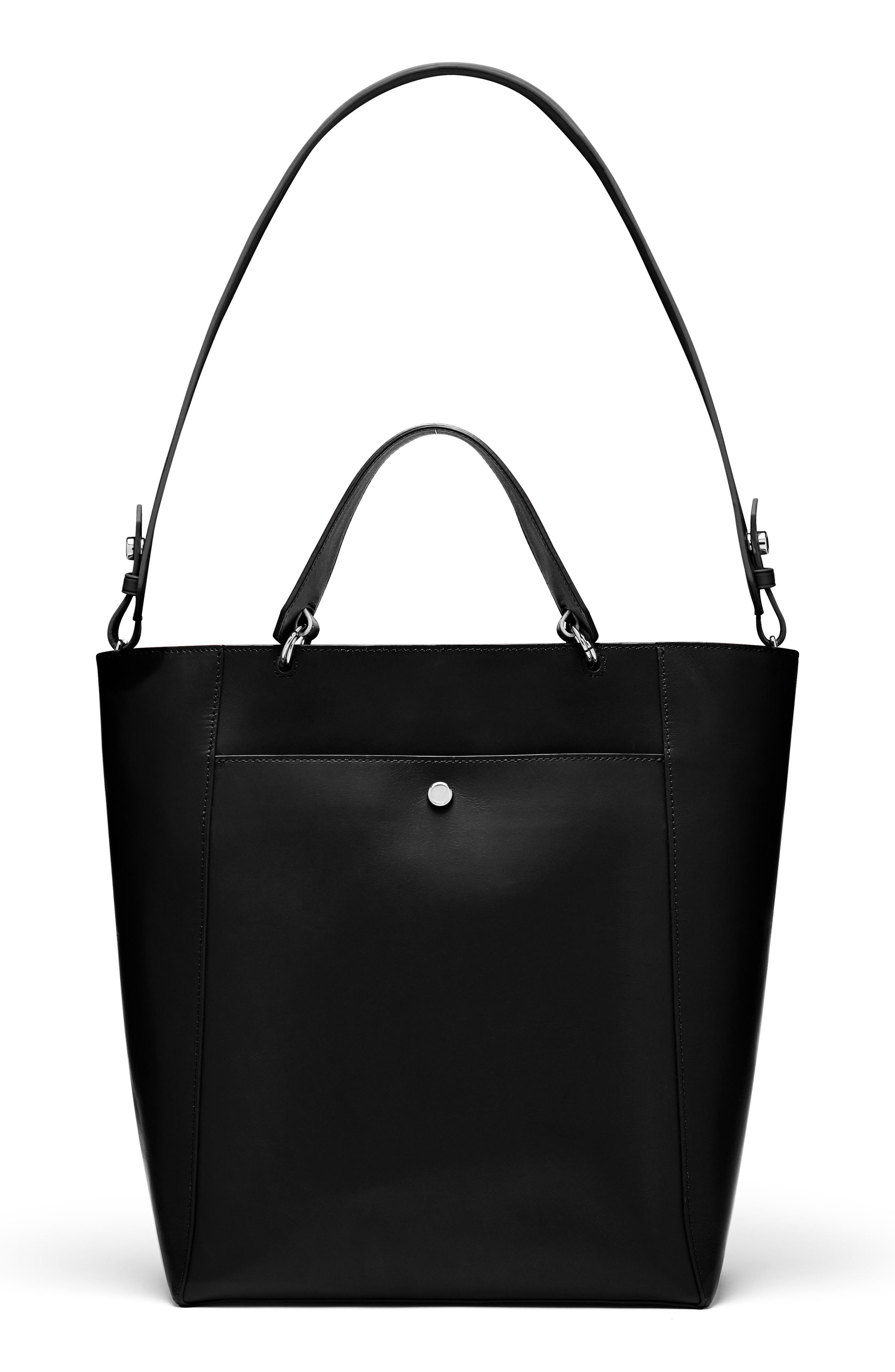 Large Eloise Leather Tote,                         Main,                         color, 001