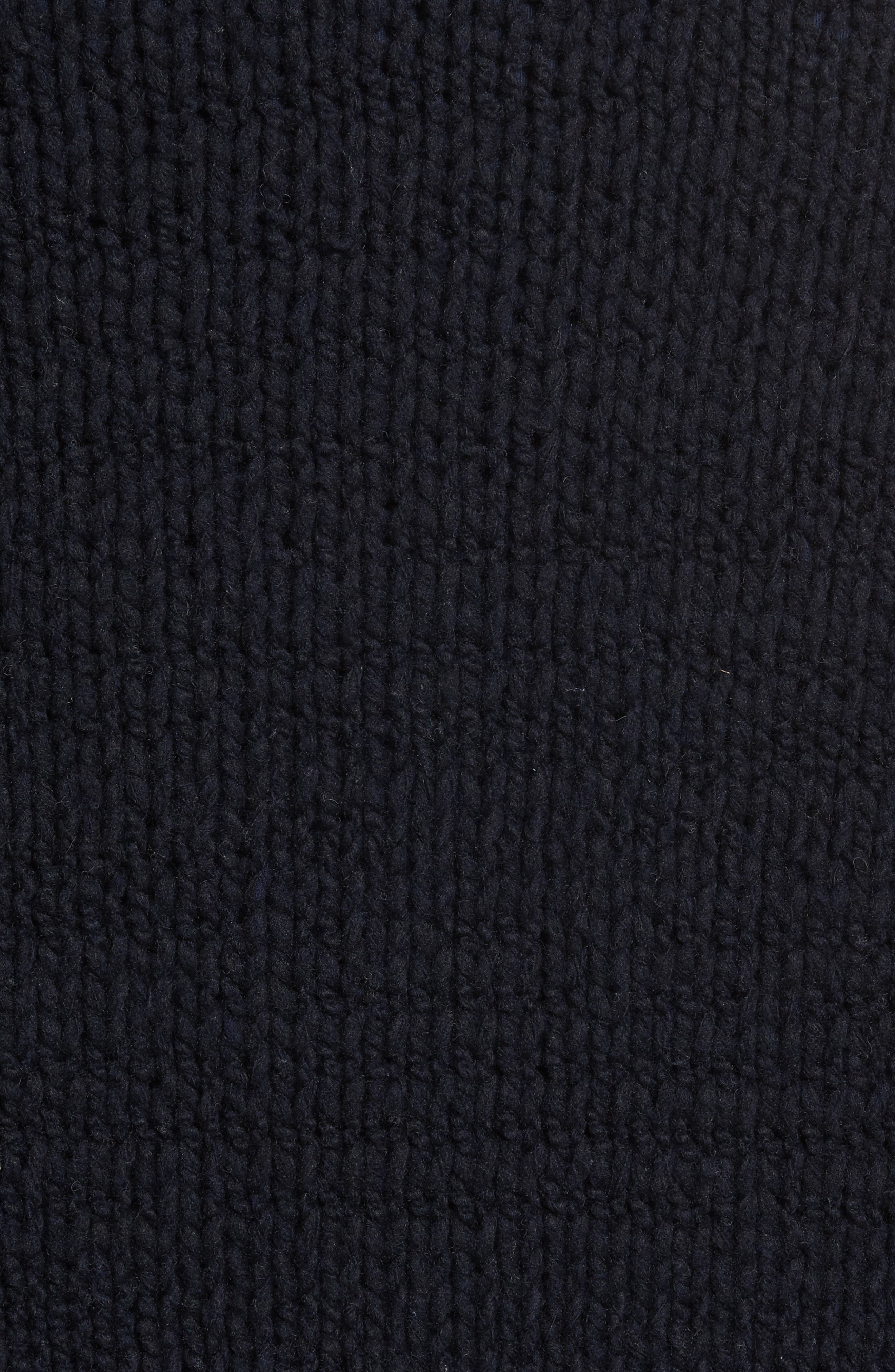 Side Button Mock Neck Sweater,                             Alternate thumbnail 5, color,                             403