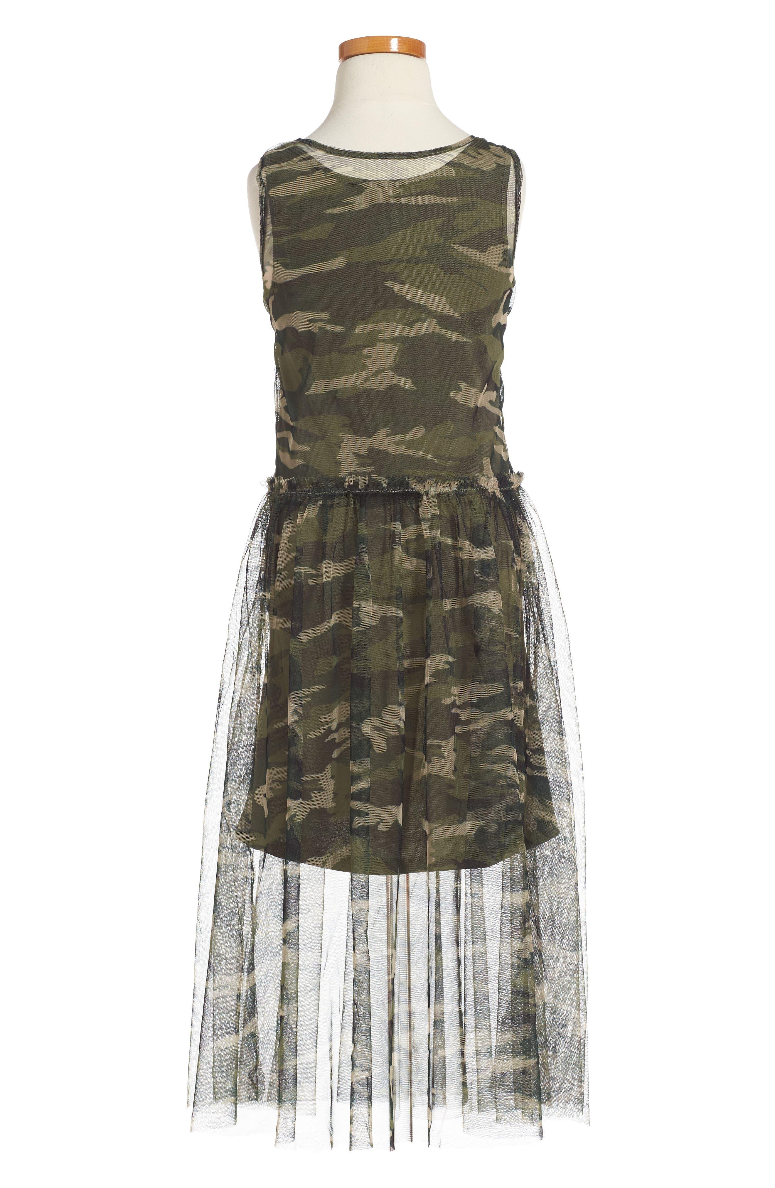 Tulle Overlay Tank Dress,                             Alternate thumbnail 2, color,                             375