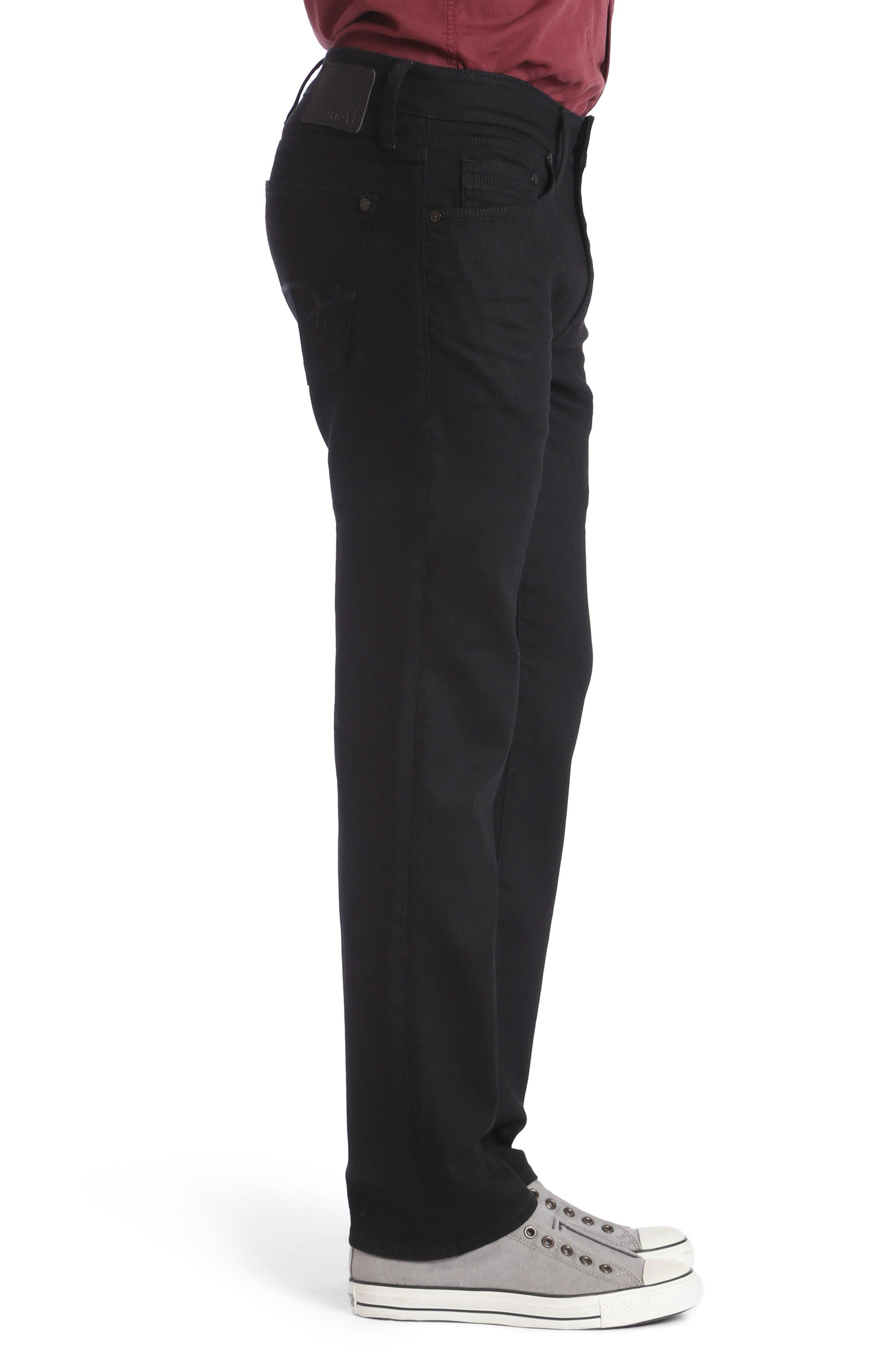 Zach Straight Fit Jeans,                             Alternate thumbnail 3, color,                             001