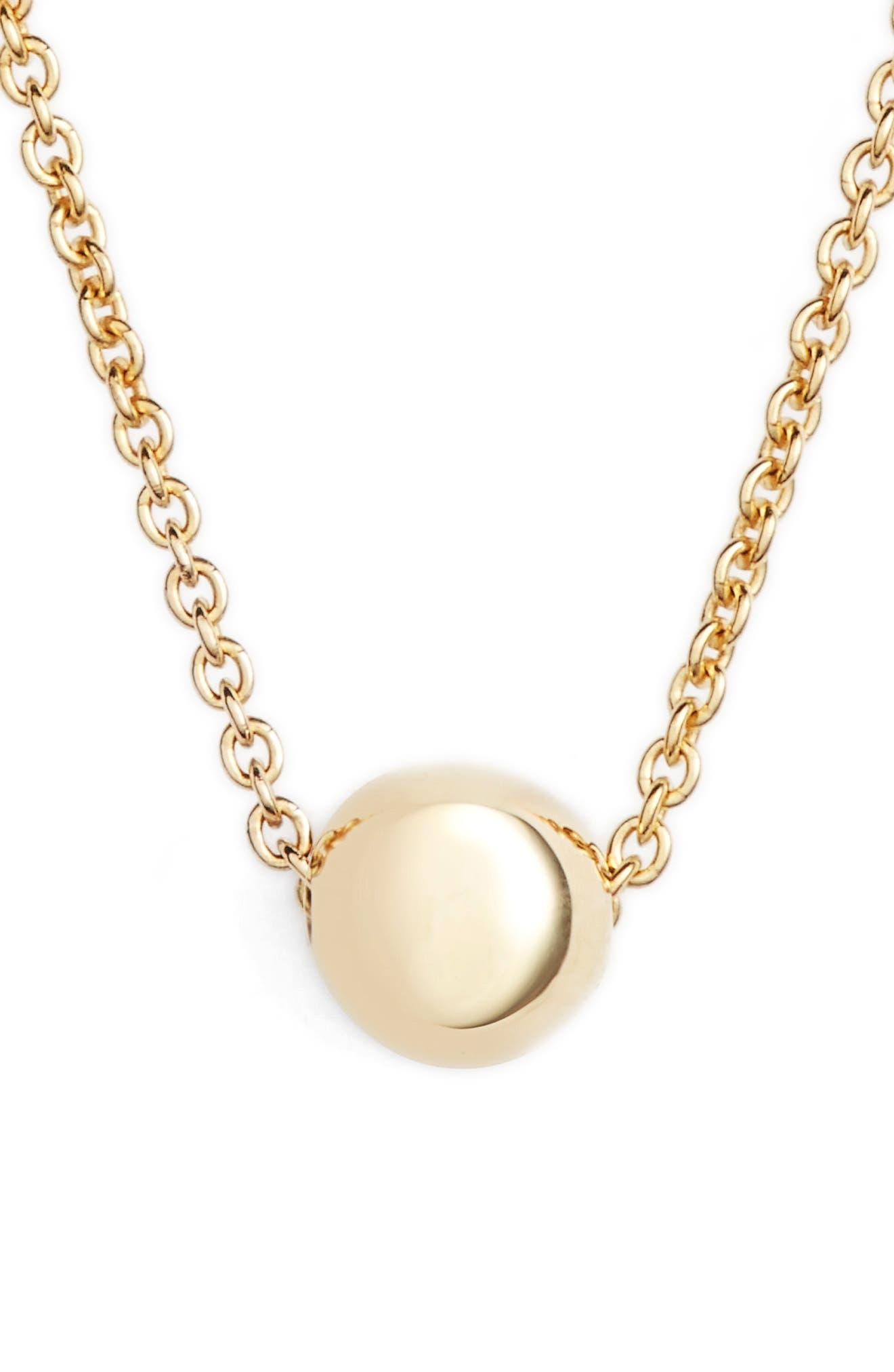 Ball Pendant Necklace,                             Main thumbnail 1, color,                             YELLOW GOLD