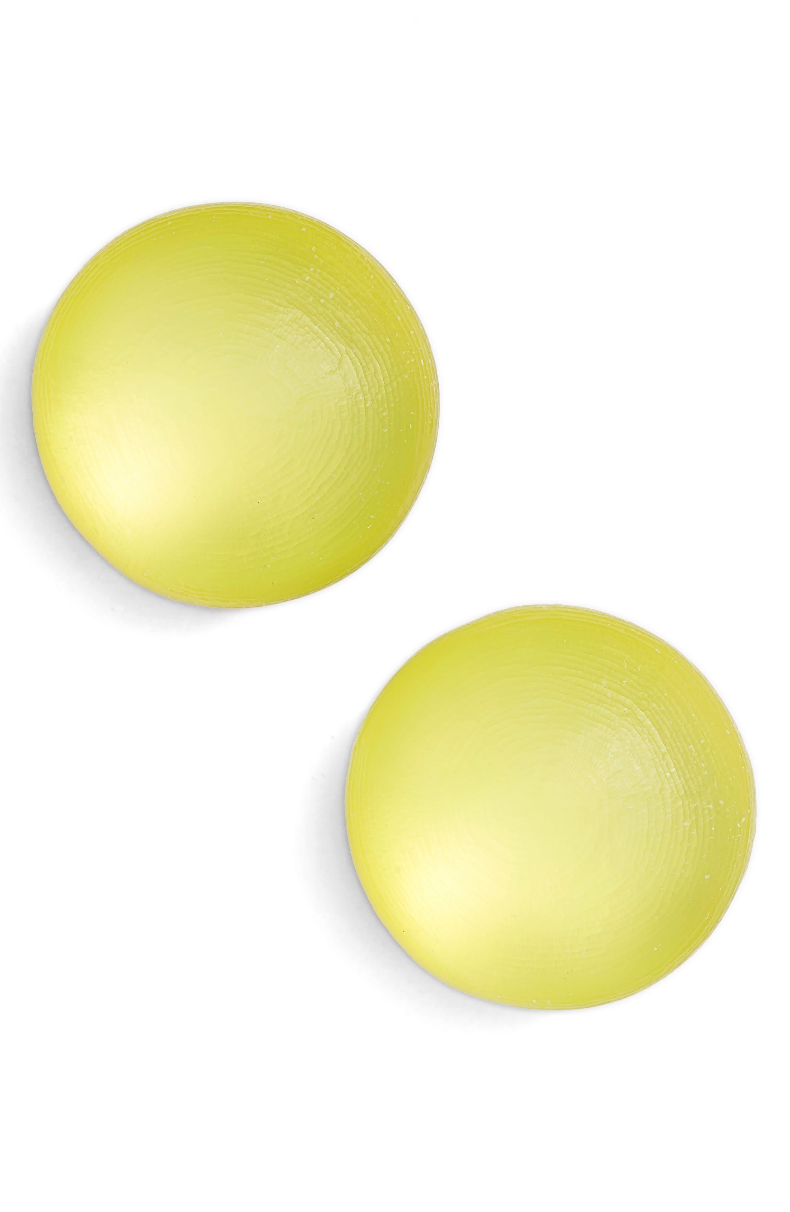Lucite<sup>®</sup> Medium Dome Clip Earrings,                             Main thumbnail 3, color,