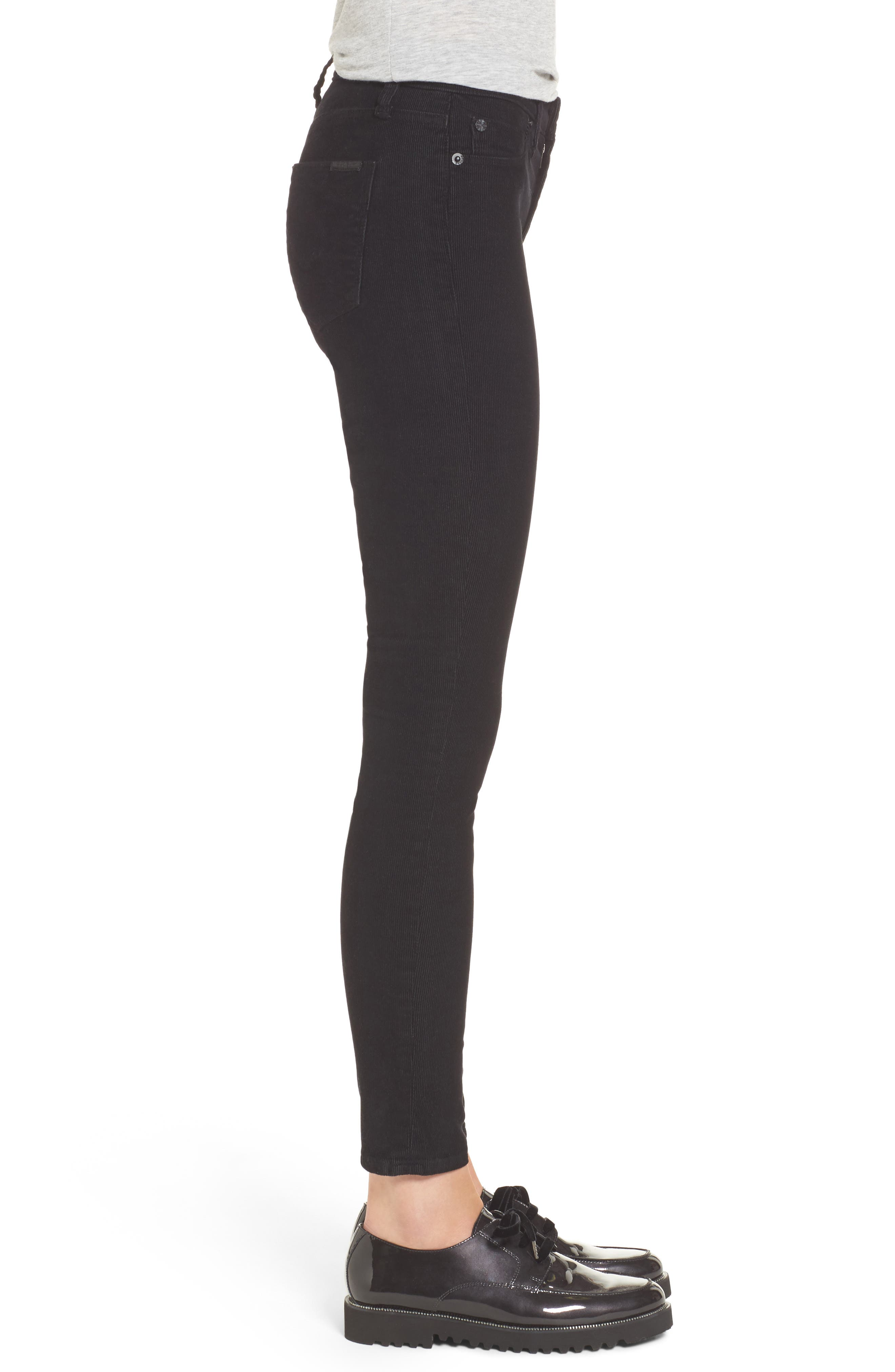 Nico Ankle Super Skinny Corduroy Pants,                             Alternate thumbnail 3, color,                             001