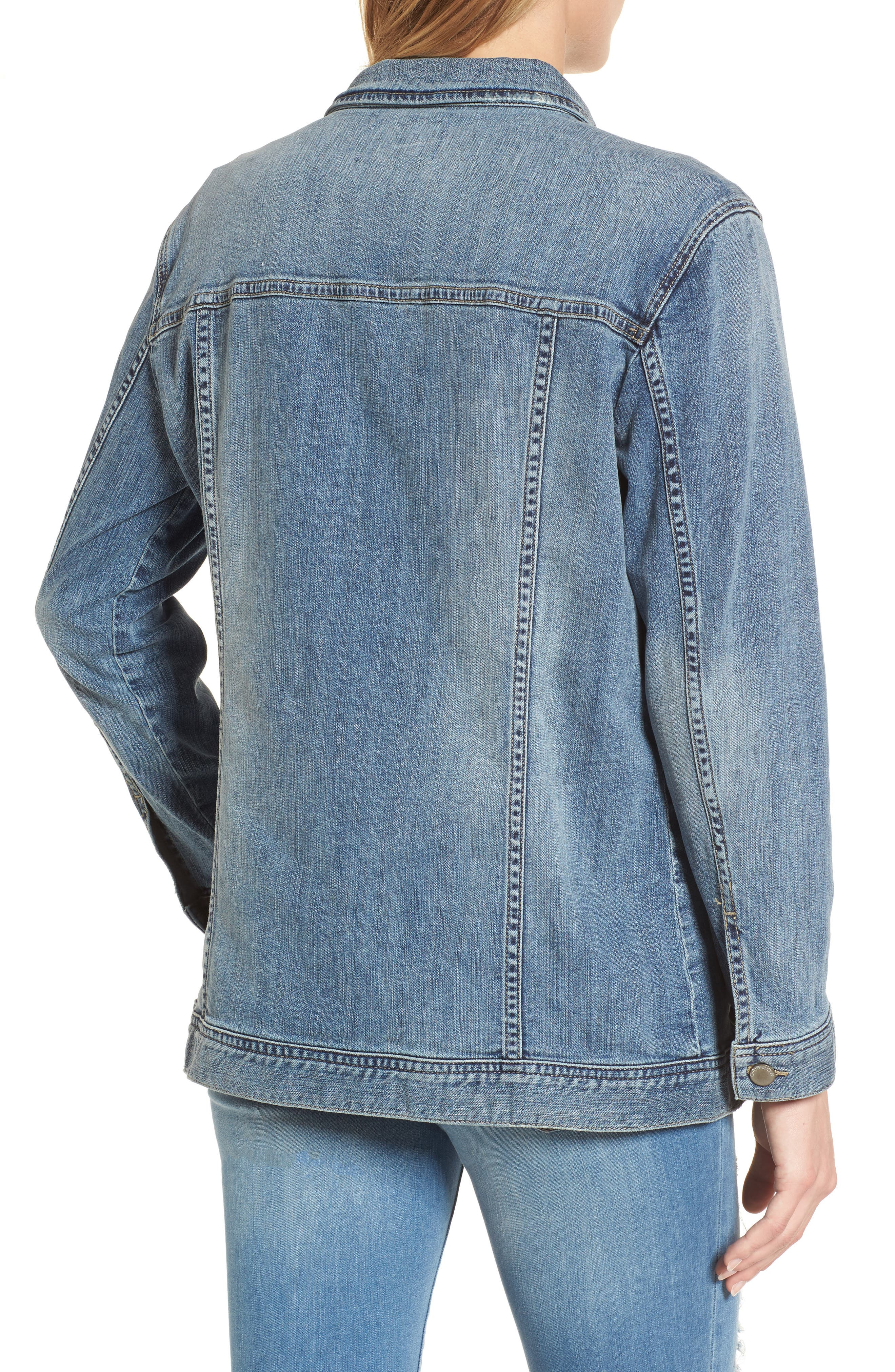 Relaxed Fit Denim Jacket,                             Alternate thumbnail 2, color,                             420