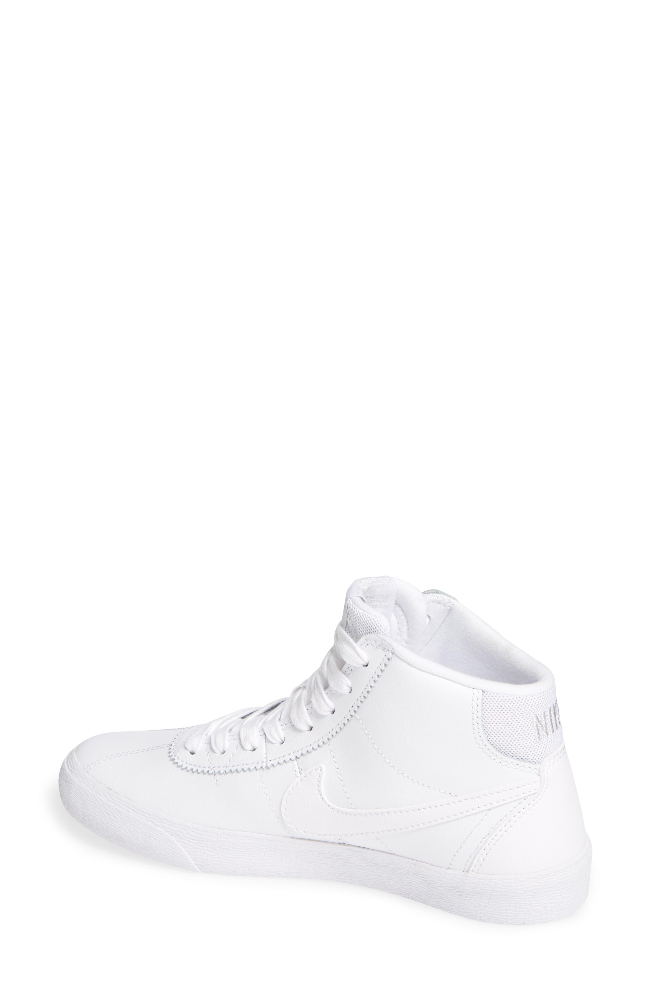 SB Bruin Hi Skateboarding Sneaker,                             Alternate thumbnail 2, color,                             WHITE/ WHITE/ VAST GREY