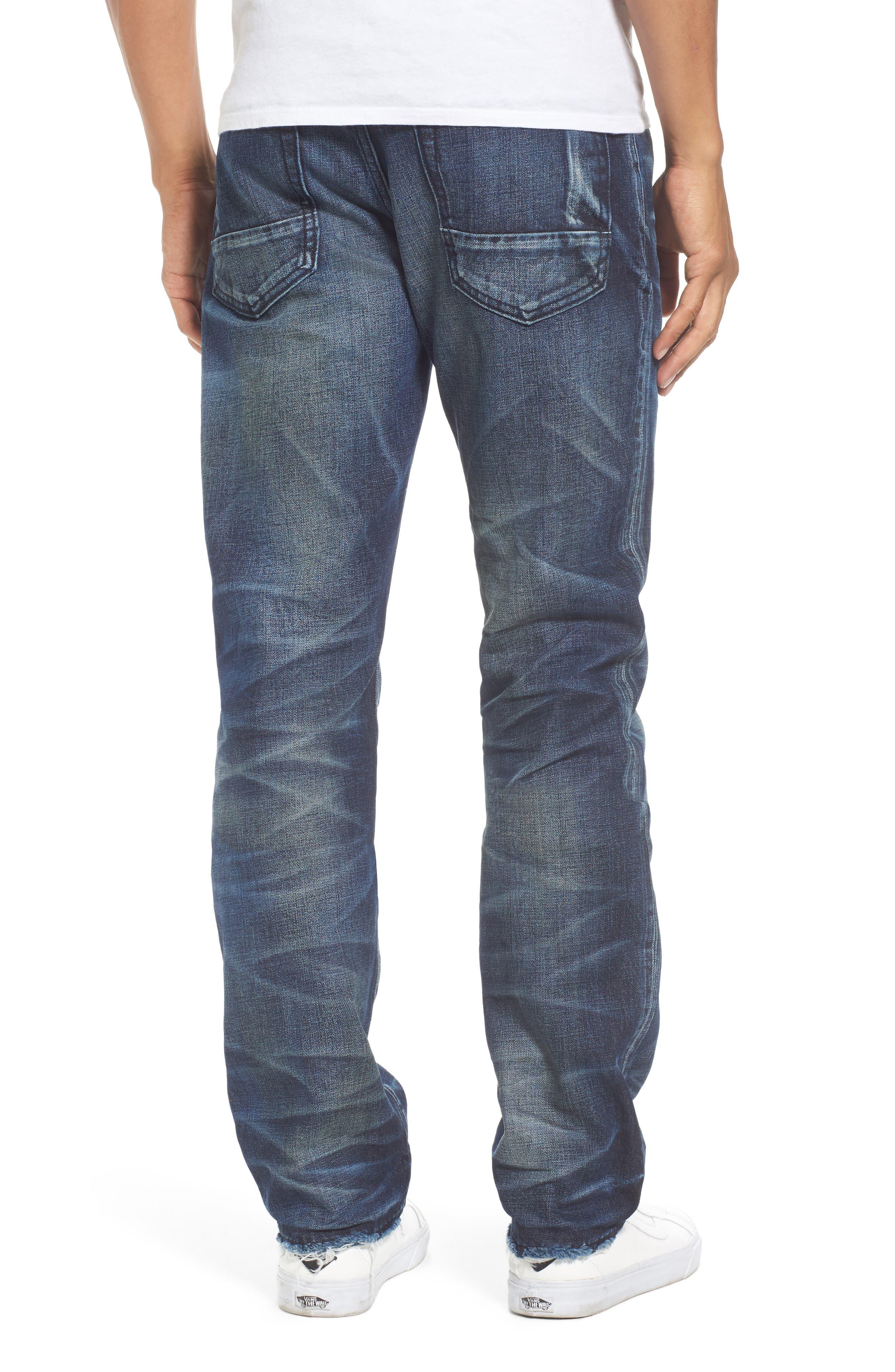 Demon Slim Straight Jeans,                             Alternate thumbnail 2, color,                             INDIGO