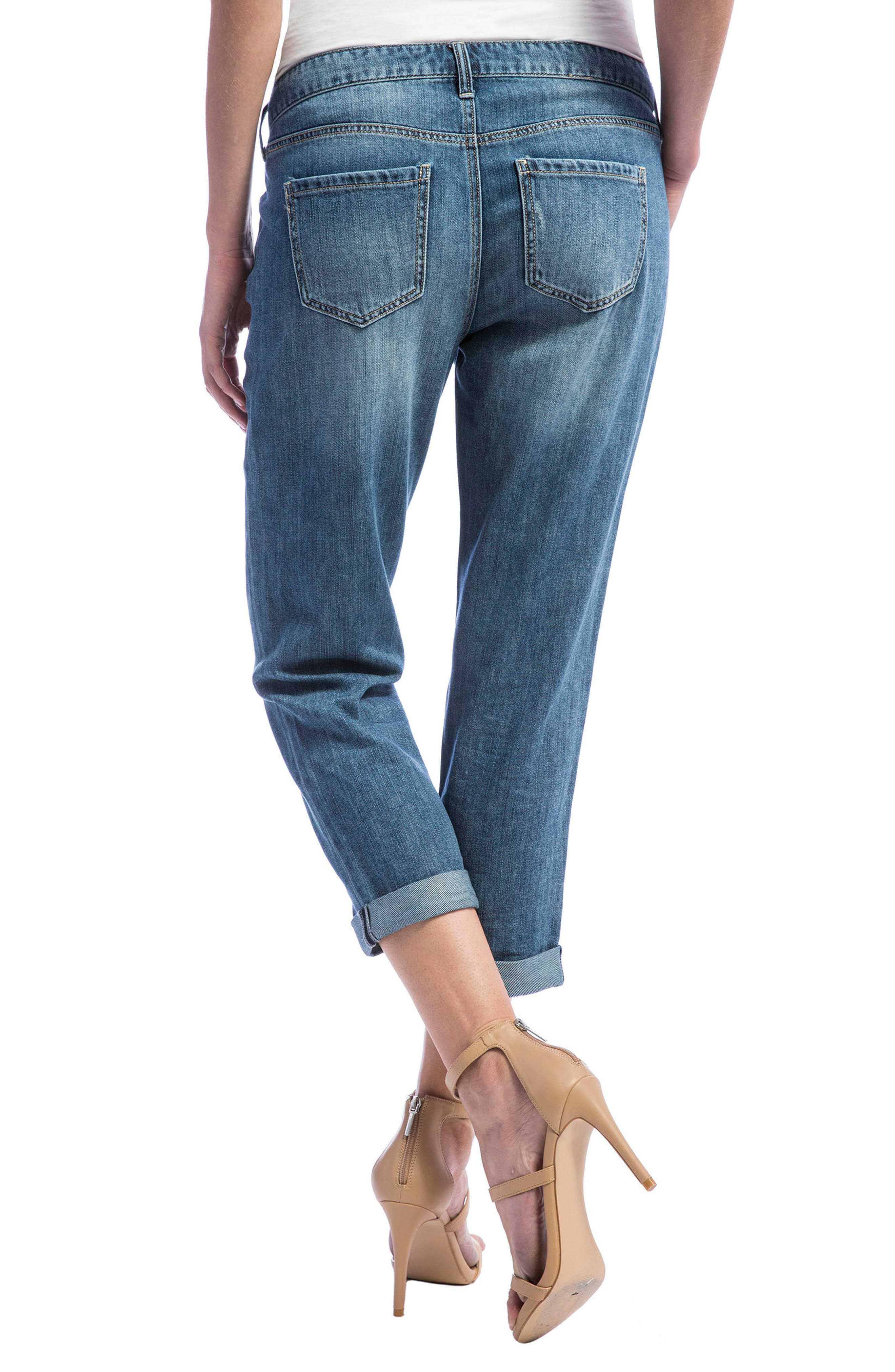 Cameron Crop Boyfriend Jeans,                             Alternate thumbnail 5, color,