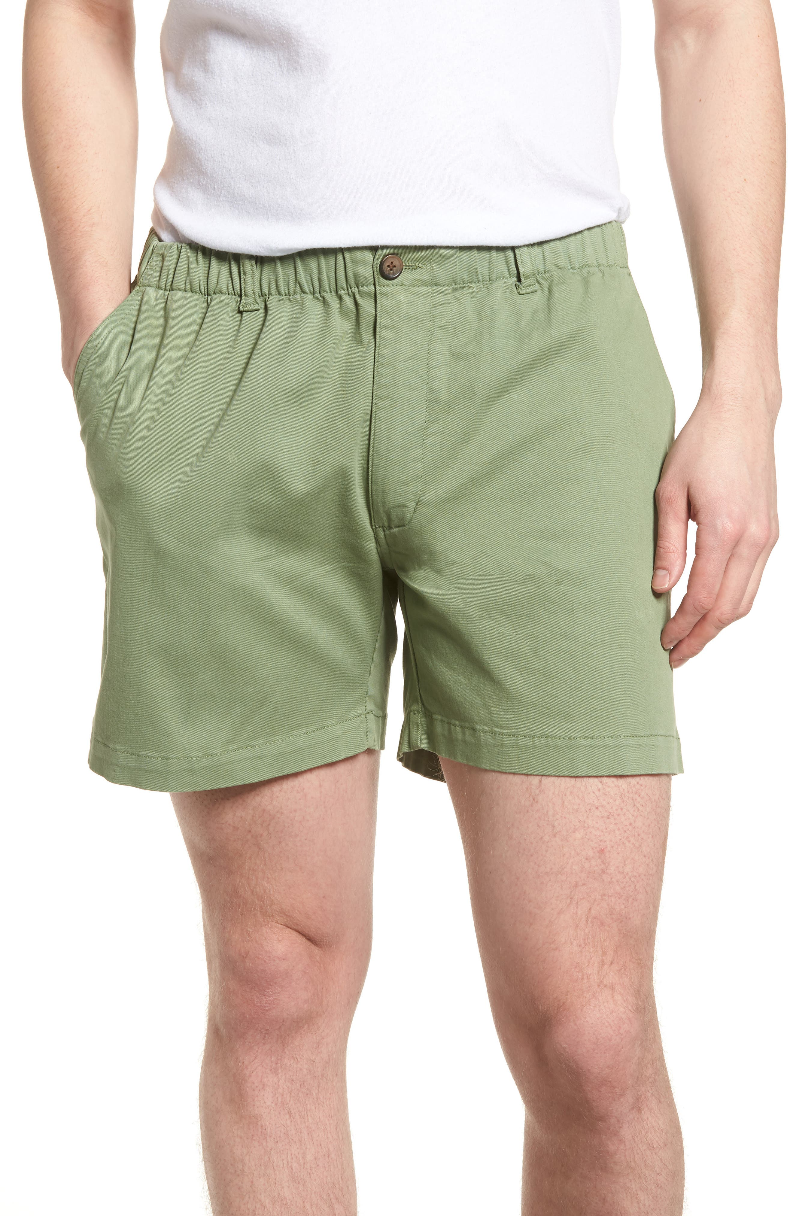 Snappers Elastic Waist 5.5 Inch Stretch Shorts,                             Main thumbnail 1, color,                             HEDGE