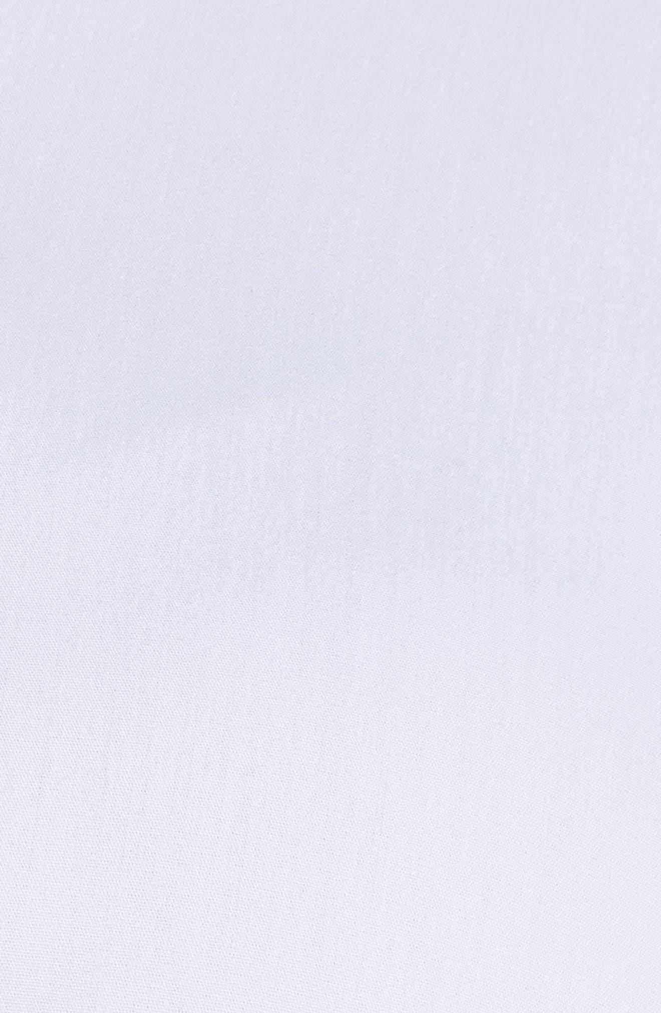 Michaela Solid Tie Front Shirt,                             Alternate thumbnail 6, color,                             WHITE
