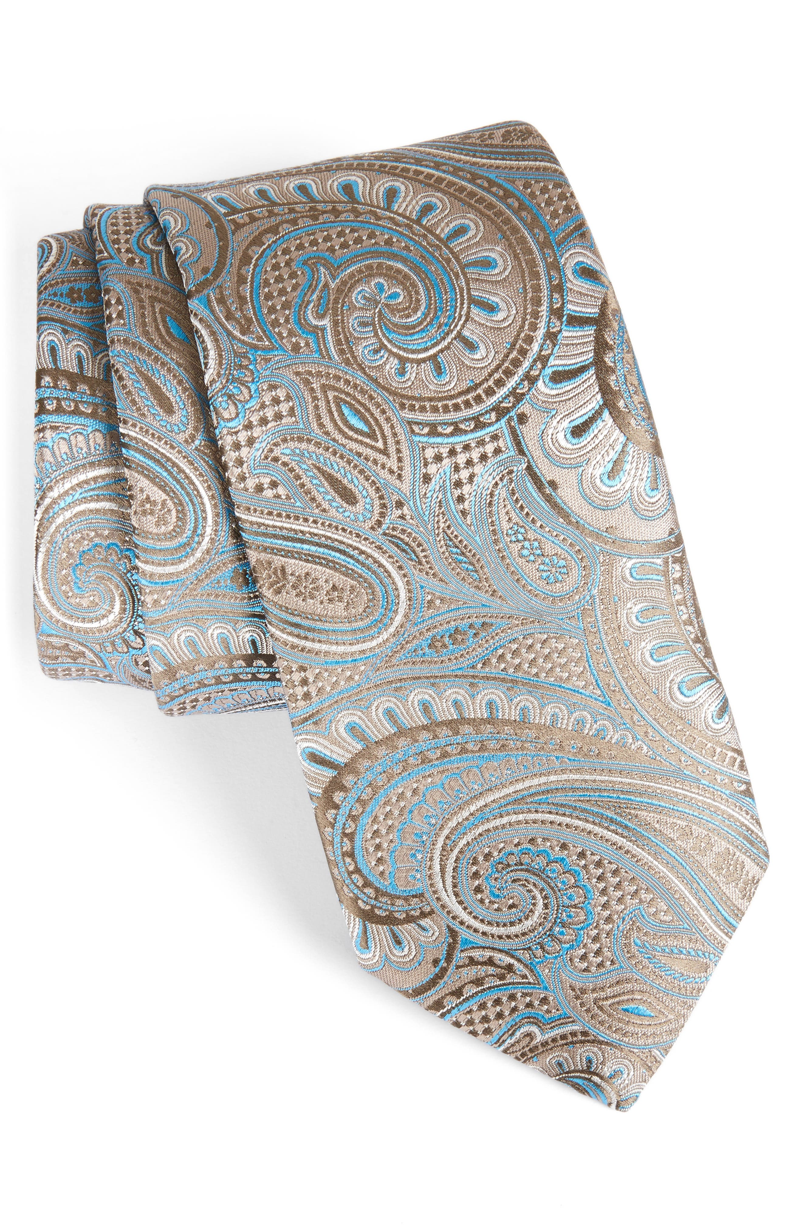 John W. Nordstrom Paisley Silk Tie,                             Main thumbnail 1, color,                             260