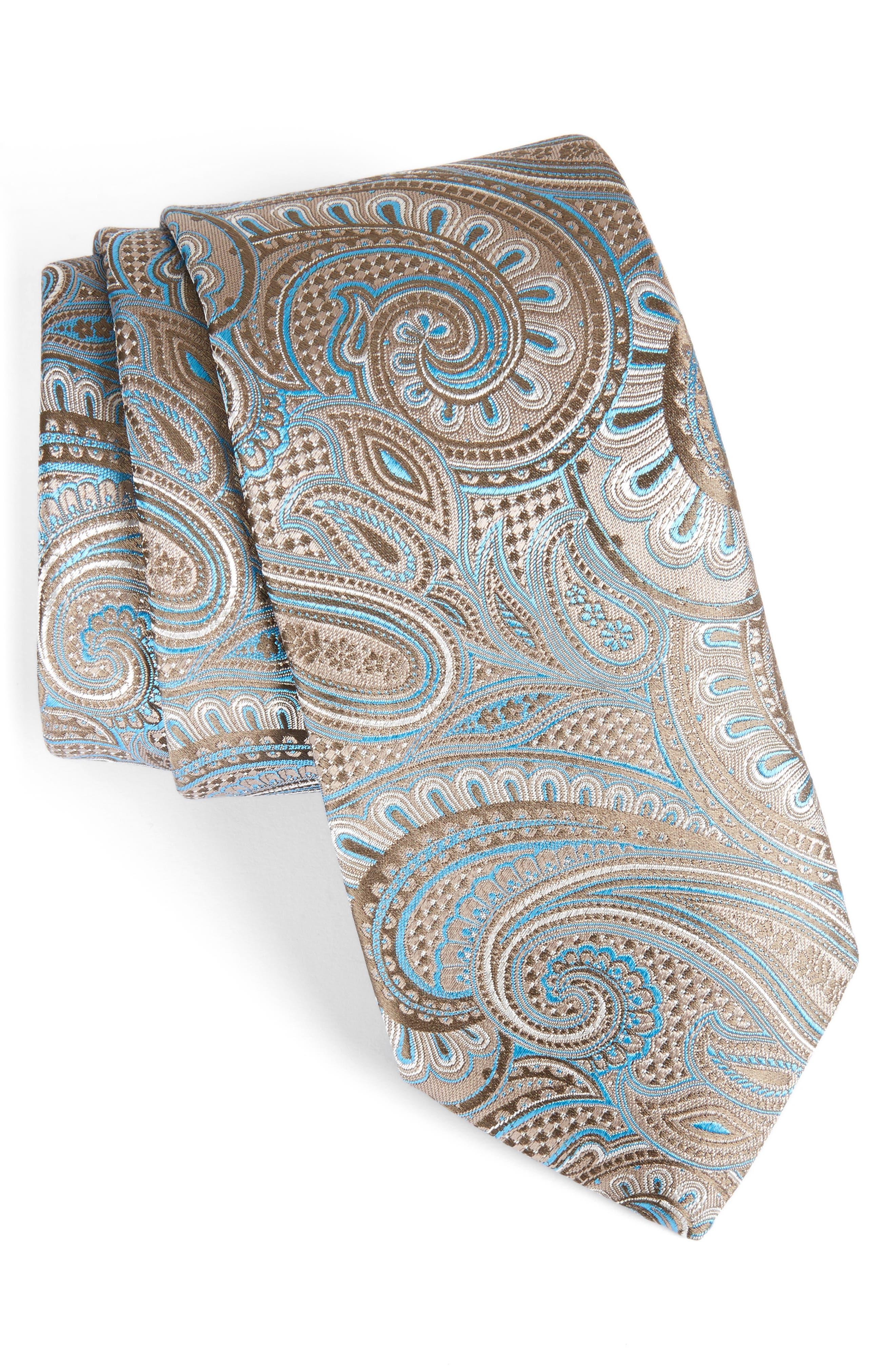 John W. Nordstrom Paisley Silk Tie,                         Main,                         color, 260