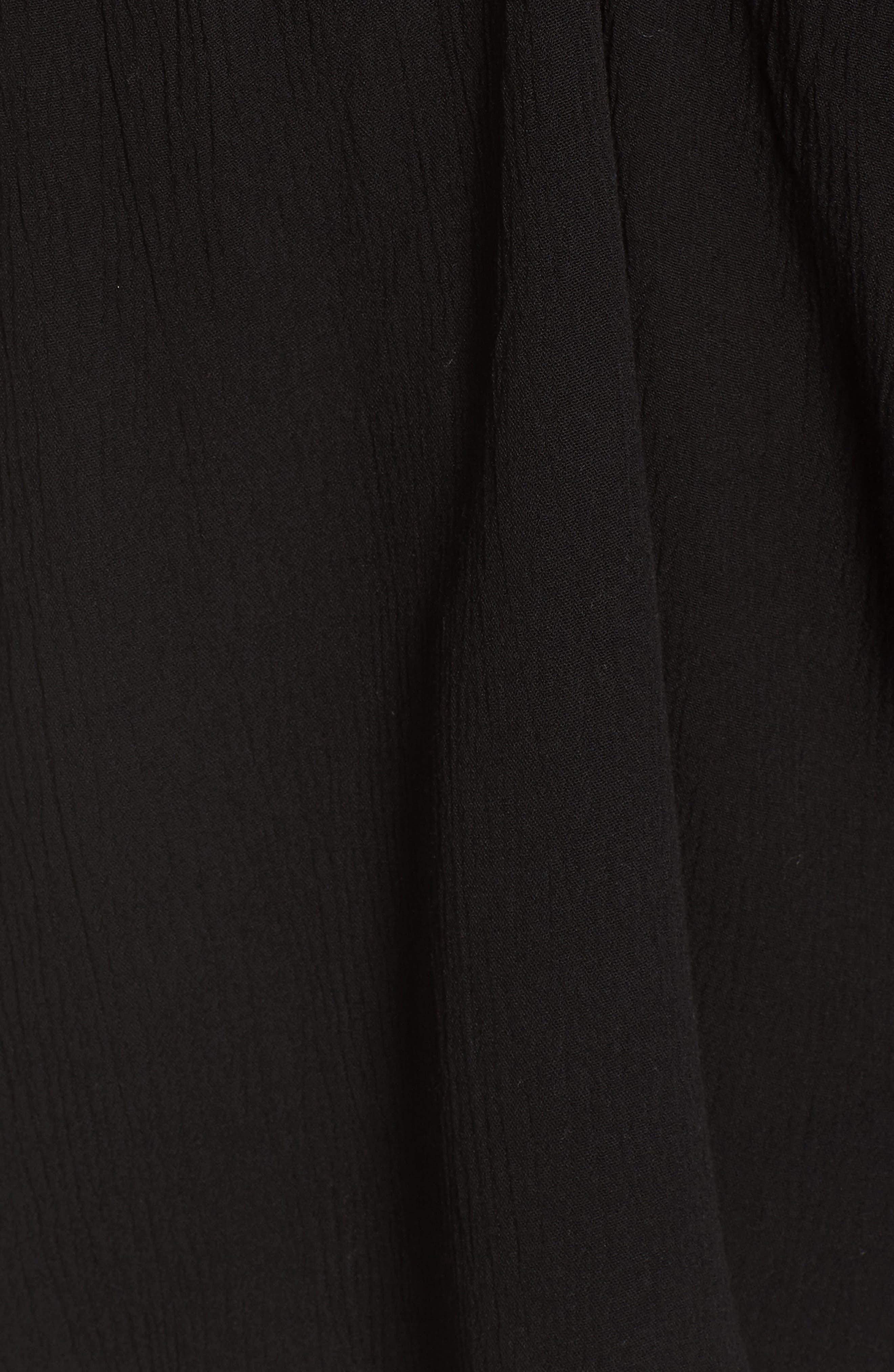 Misha Lacy Tie Neck Top,                             Alternate thumbnail 5, color,                             001