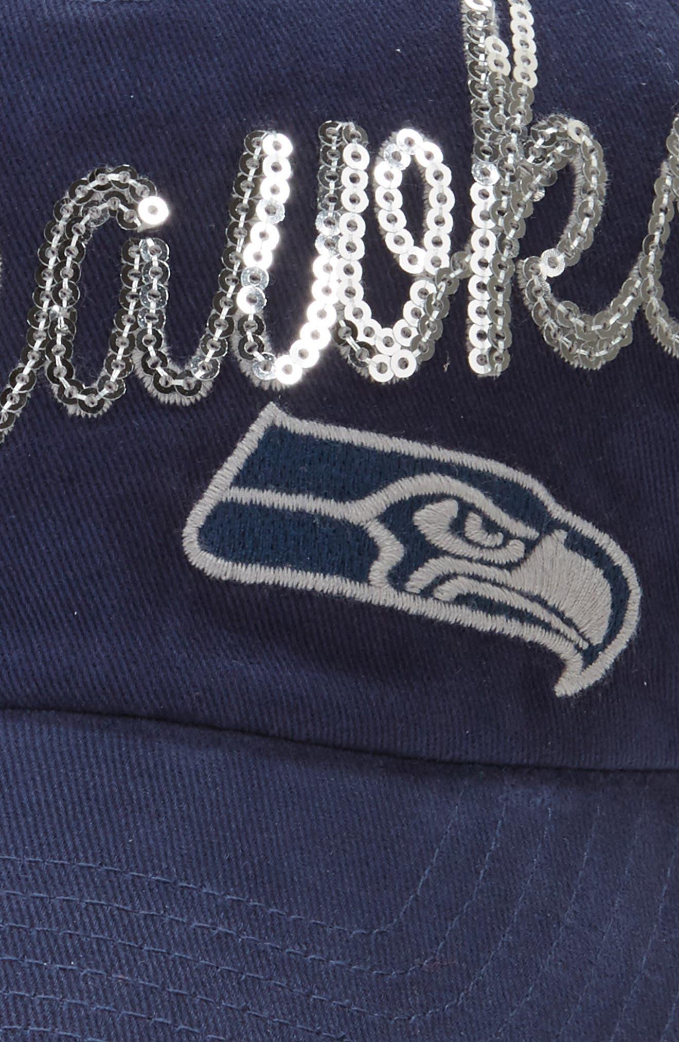 Seattle Seahawks Sparkle Cap,                             Alternate thumbnail 3, color,                             410