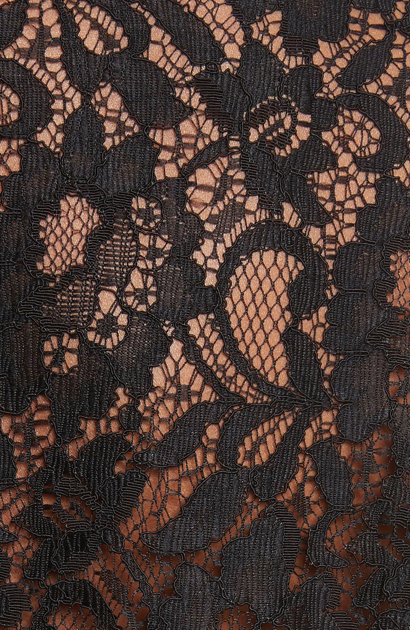 Silk & Lace Blouse,                             Alternate thumbnail 5, color,                             001