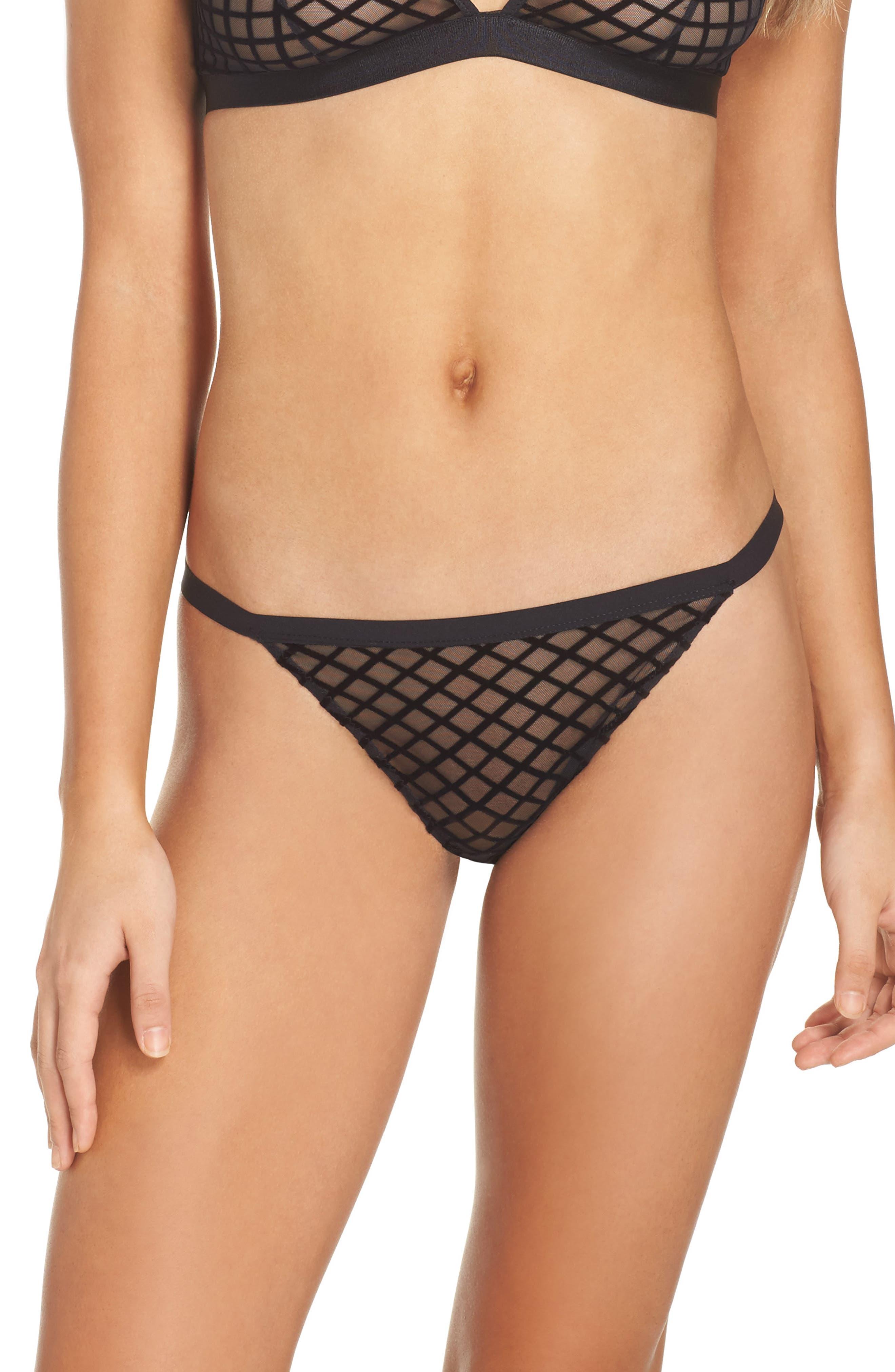 Bisou Tex String Bikini,                             Main thumbnail 1, color,                             001