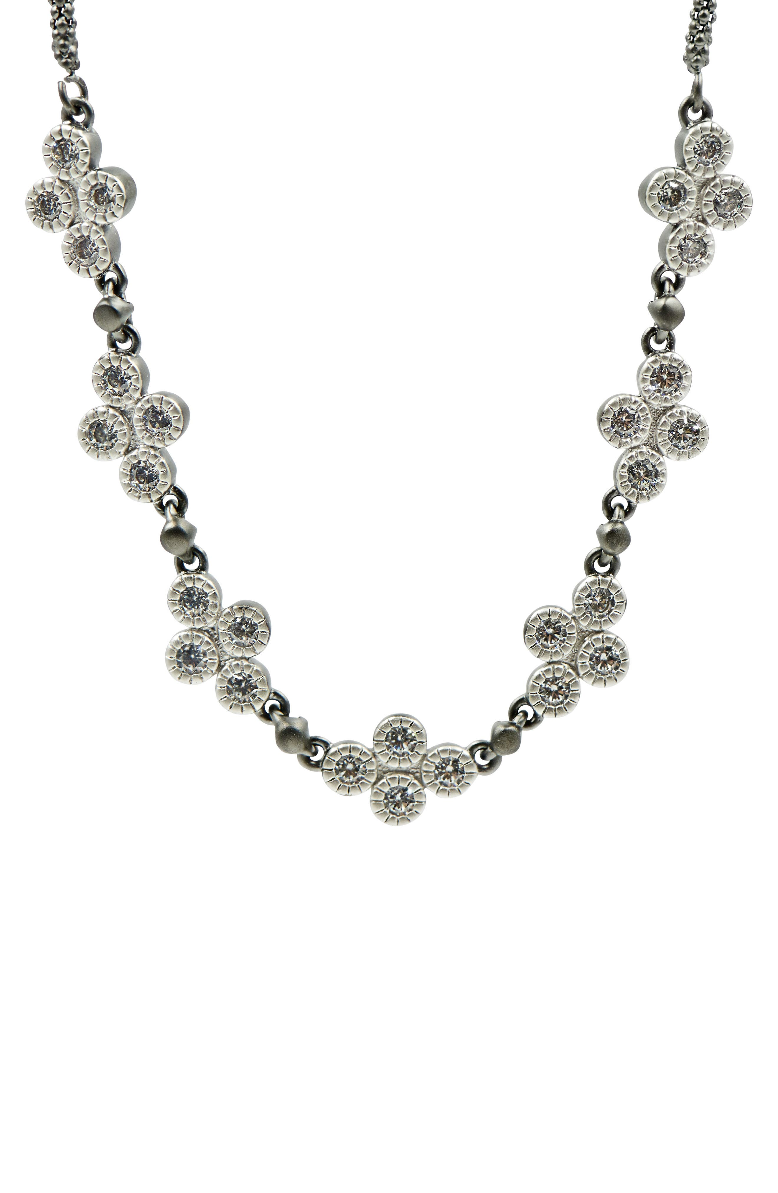FREIDA ROTHMAN,                             Industrial Finish Chain Necklace,                             Alternate thumbnail 2, color,                             BLACK/ SILVER