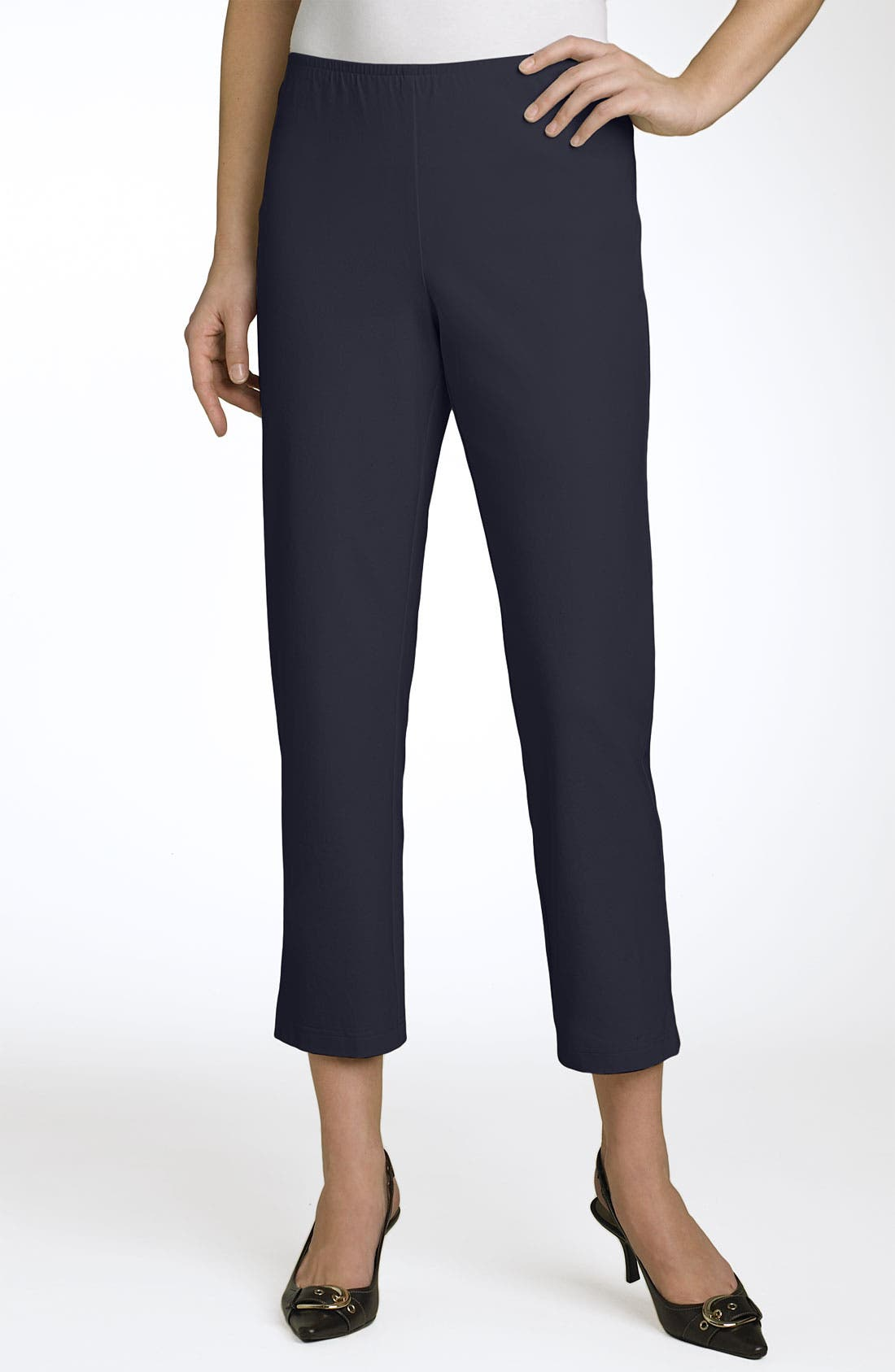 Organic Stretch Cotton Twill Ankle Pants,                             Main thumbnail 23, color,