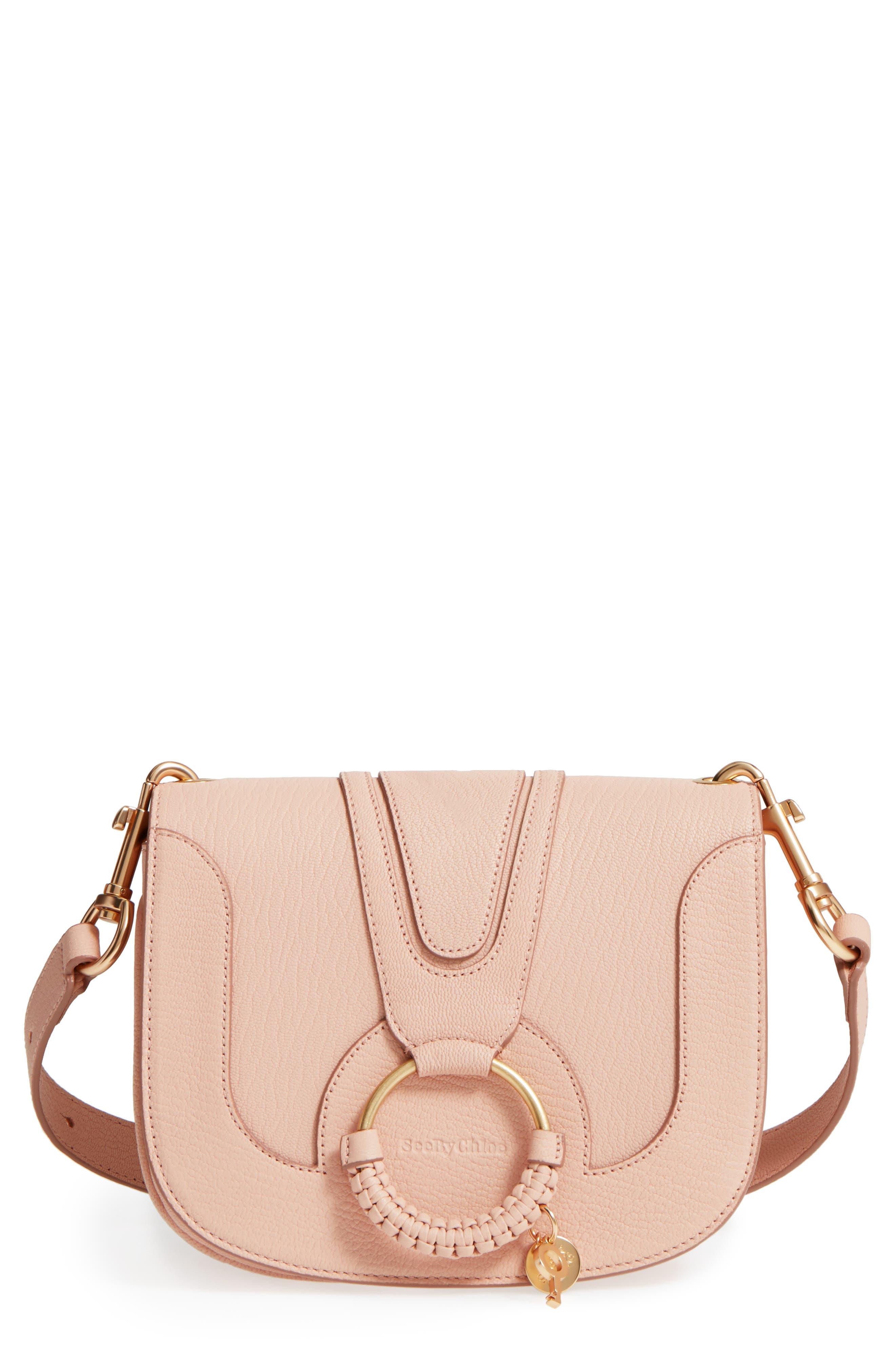Hana Small Leather Crossbody Bag,                             Main thumbnail 8, color,